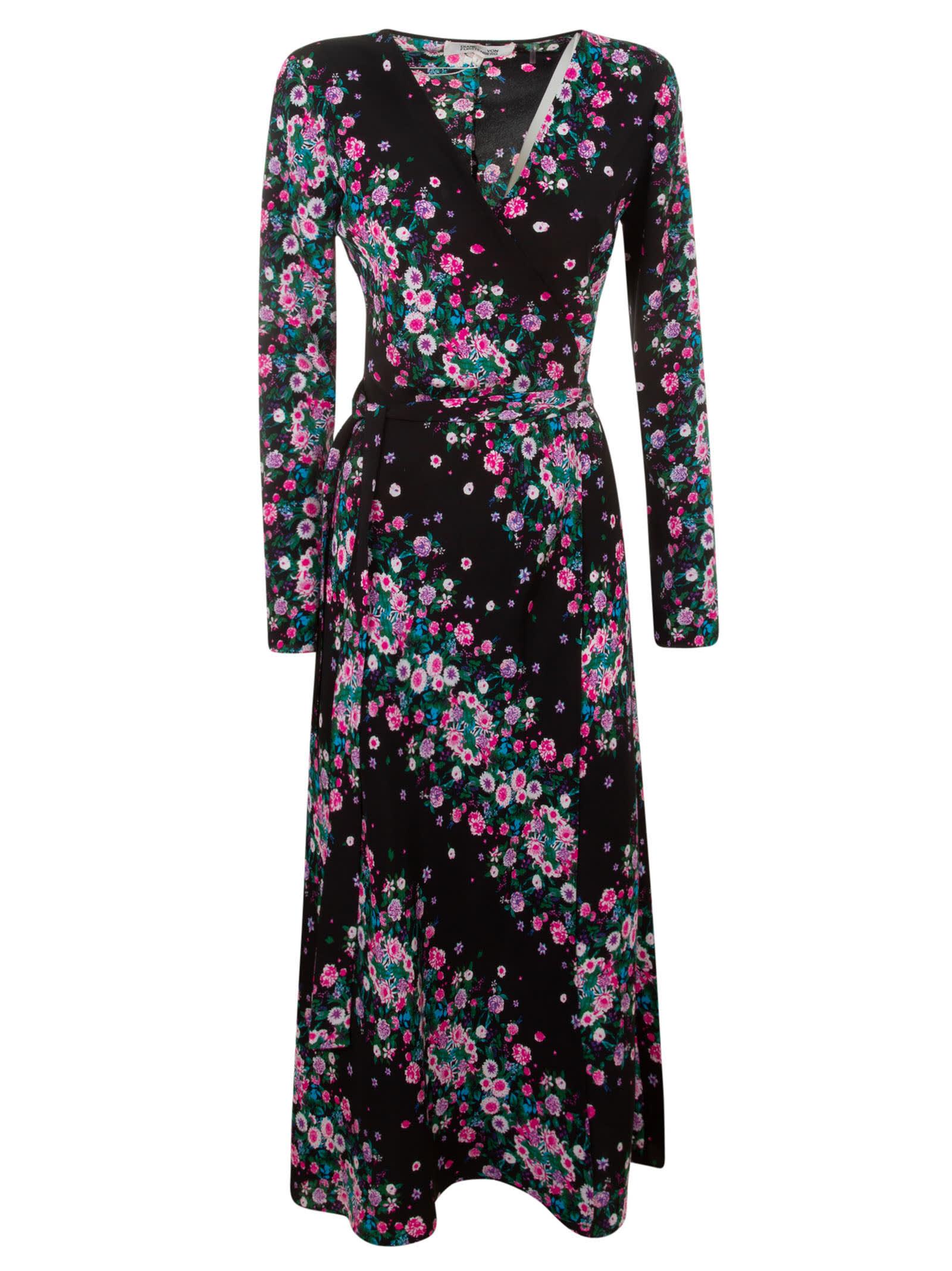 Buy Diane Von Furstenberg Floral Print Maxi Dress online, shop Diane Von Furstenberg with free shipping