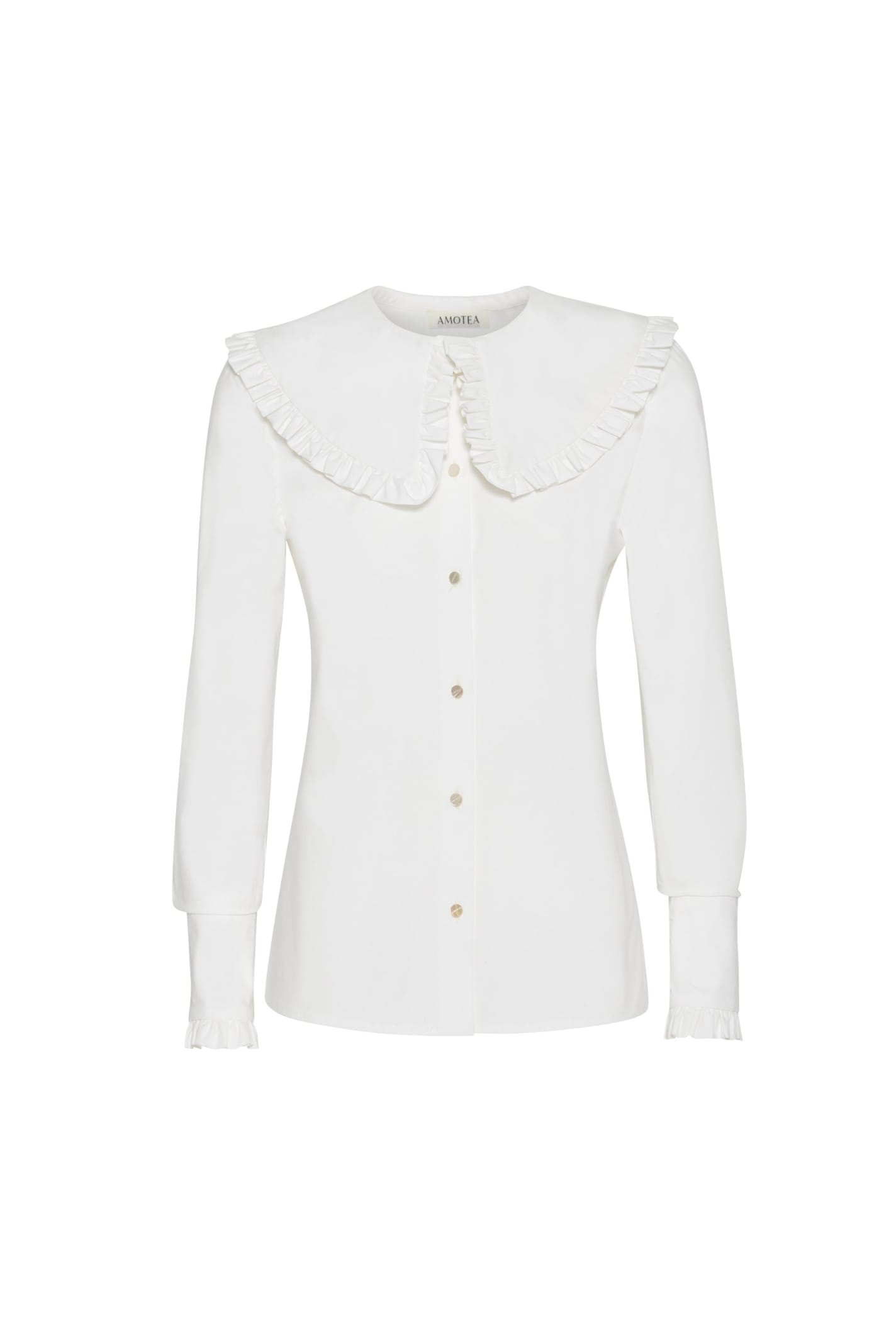 Charlie Shirt In White Popeline