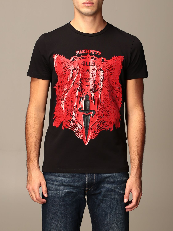 Paciotti 4us T-shirt Paciotti 4us T-shirt With Logo Print