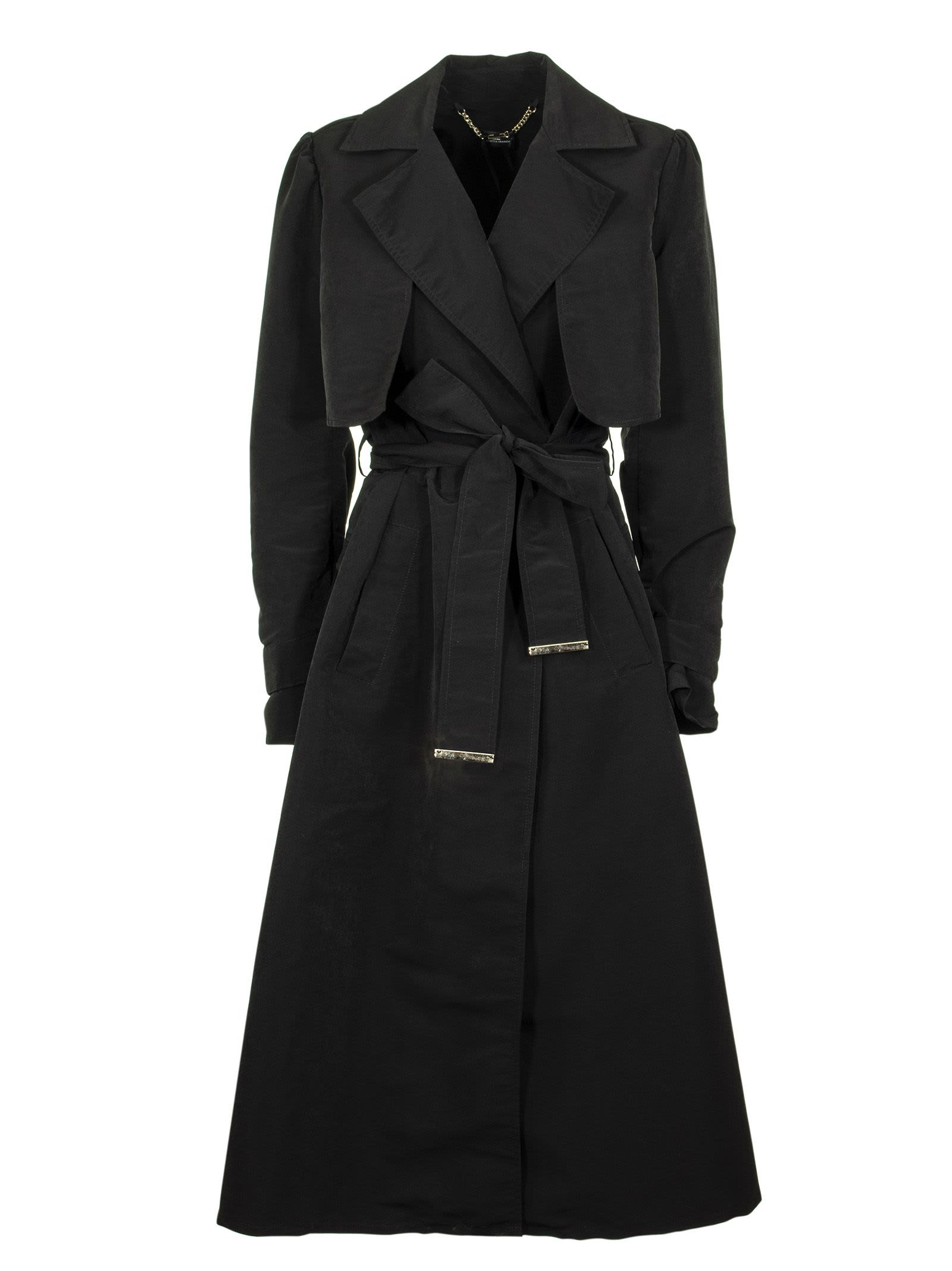 Elisabetta Franchi Celyn B. Dust Coat With Belt