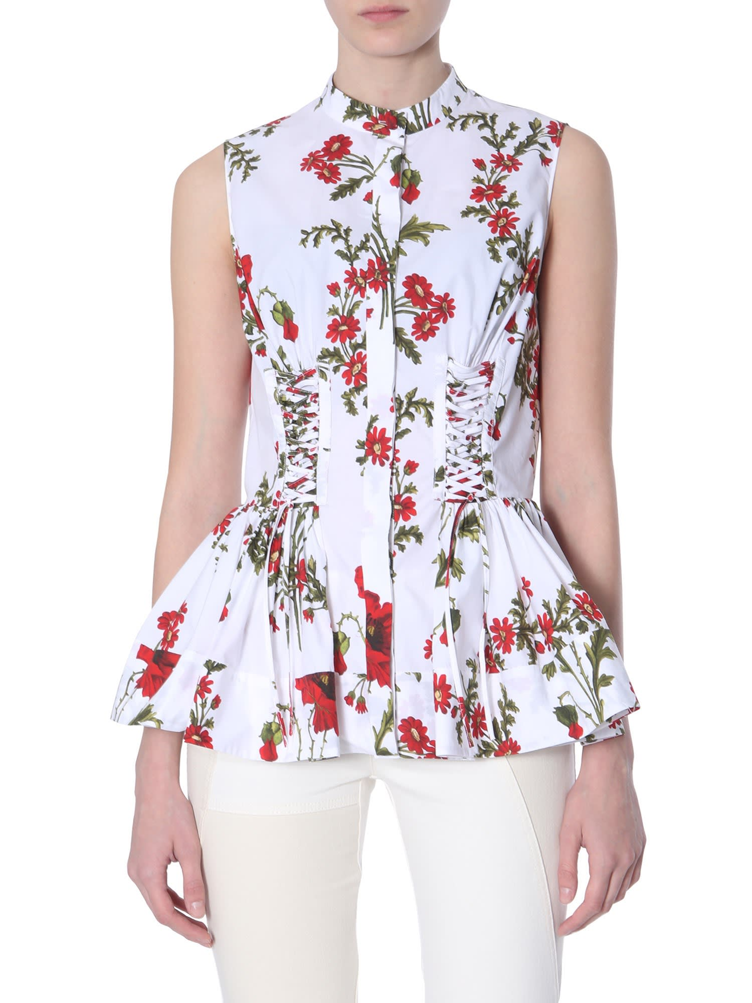 Alexander McQueen Poppy Field Print Shirt
