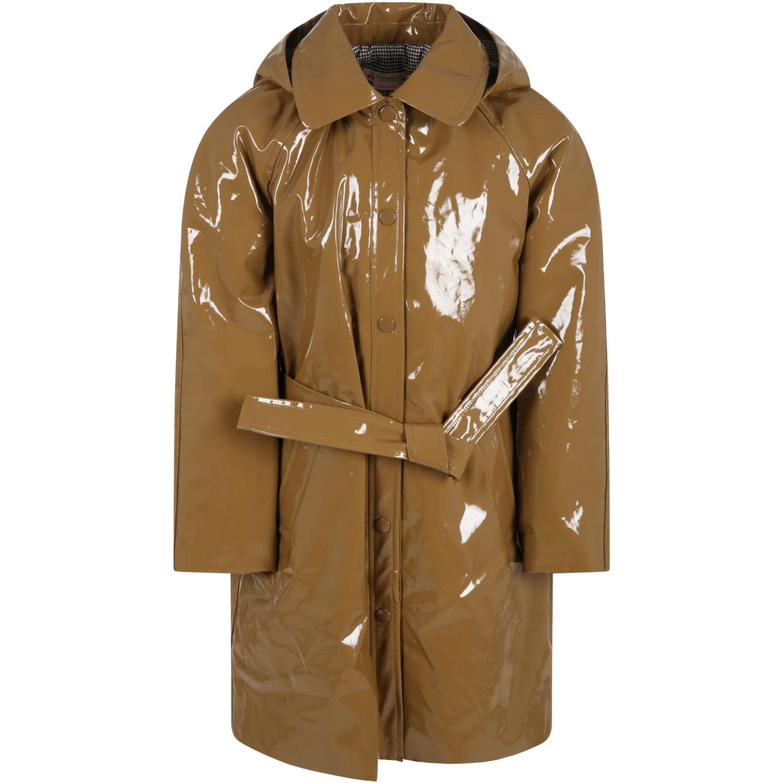 Brown Raincoat For Girl