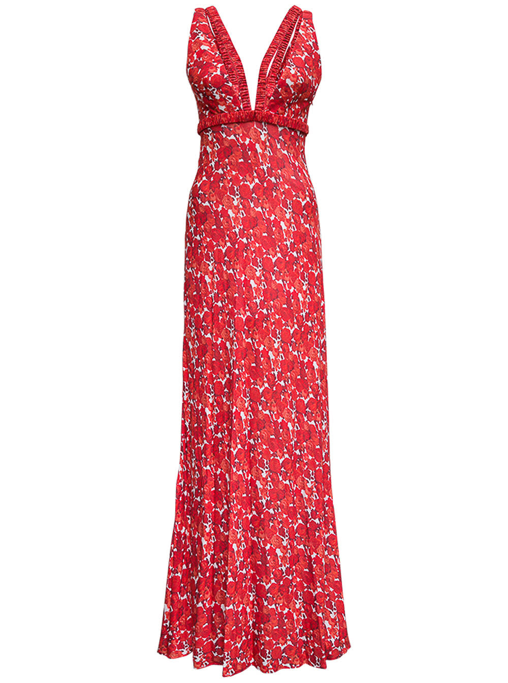 Viscose Long Dress With Floral Print