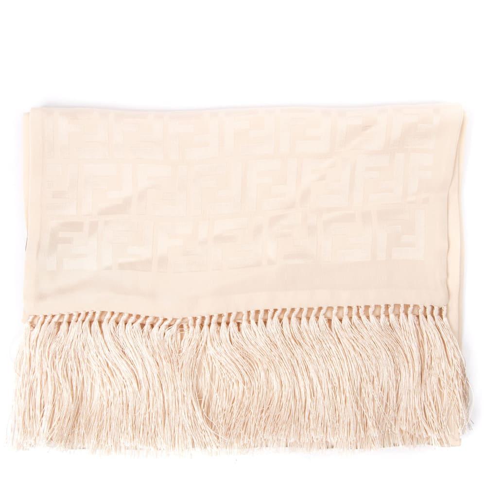 054d22b639 Fendi Pink Silk Shawl With Monogram