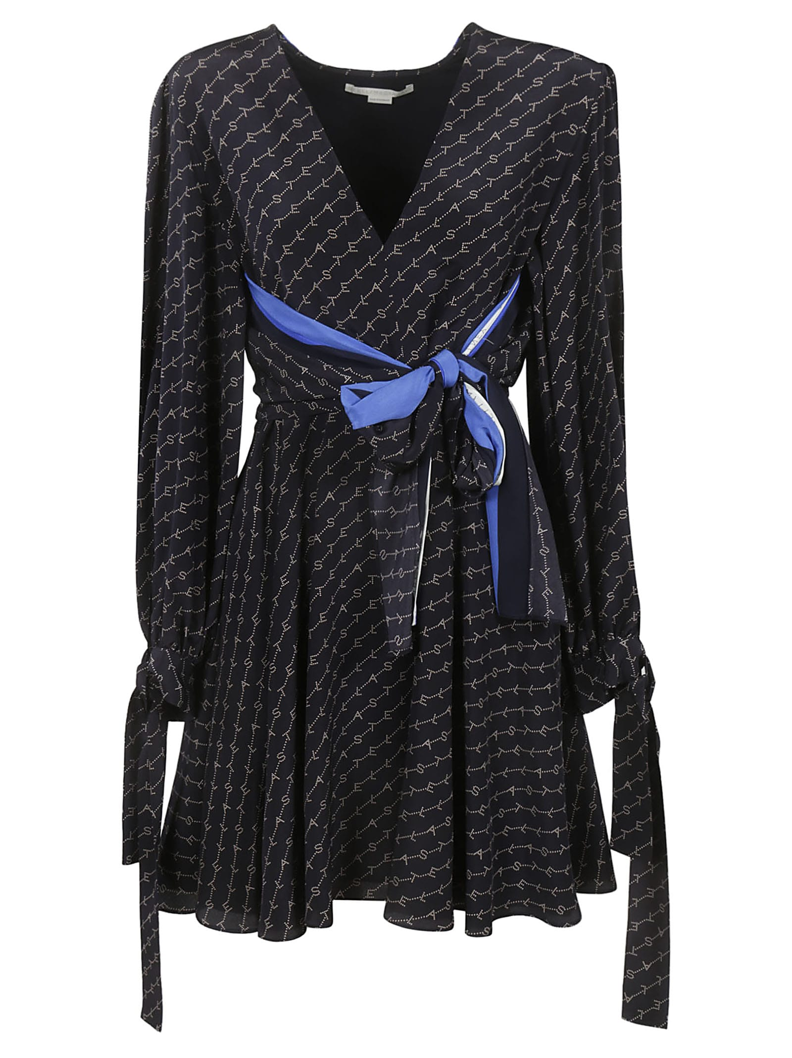Stella McCartney Logo Print Cape Dress