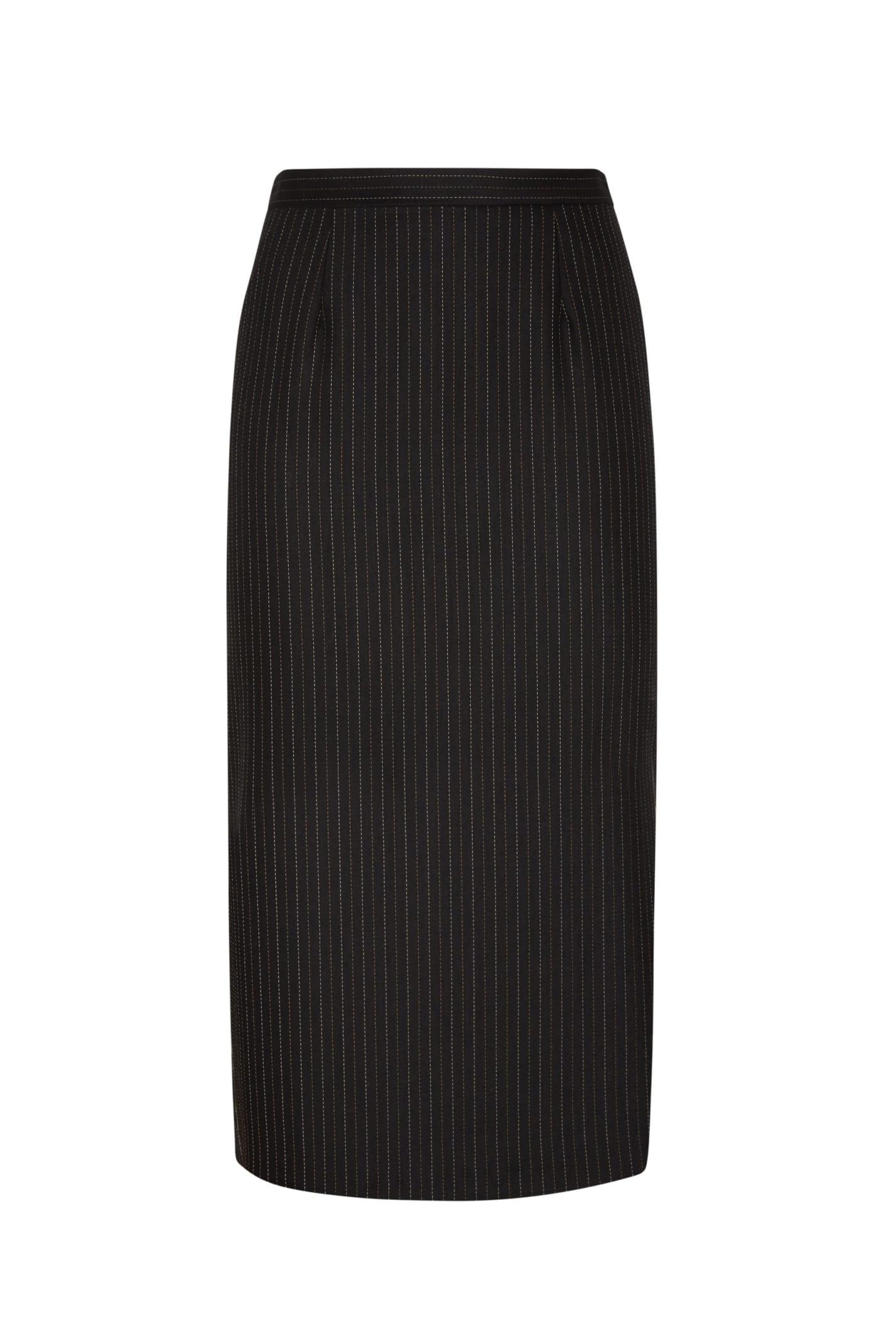 Diana Skirt In Black Gessato