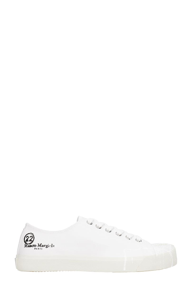 Maison Margiela Tabi Sneakers In White Canvas