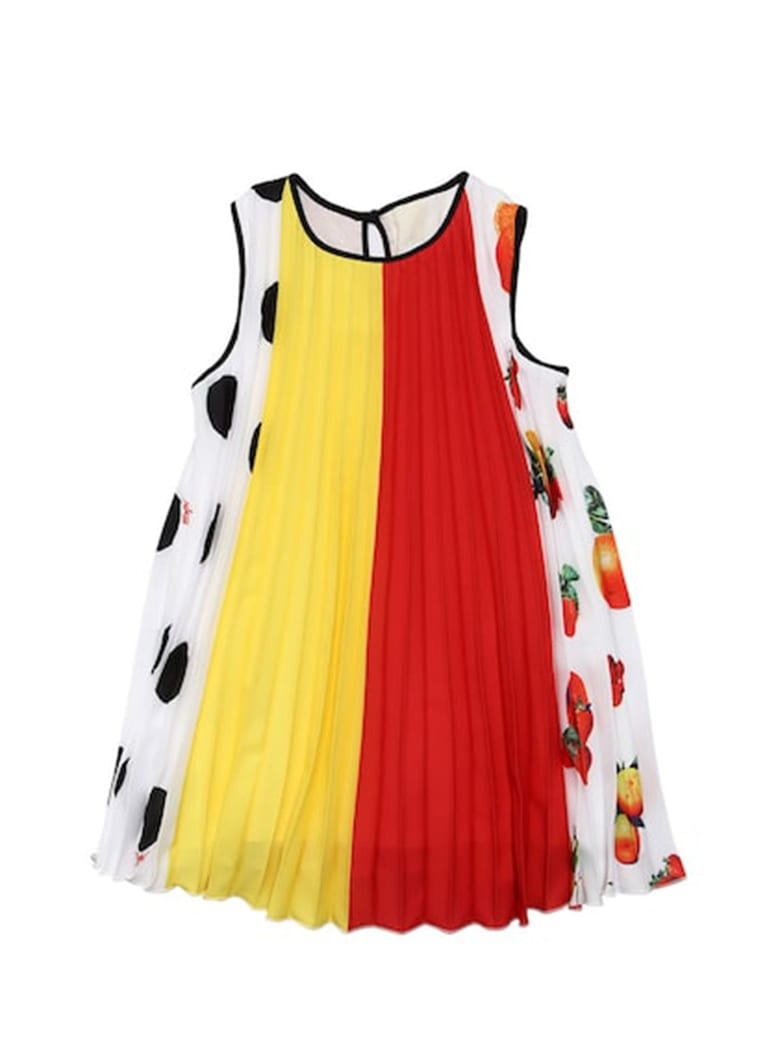 Buy MSGM Three Color Plisse´ Dress online, shop MSGM with free shipping