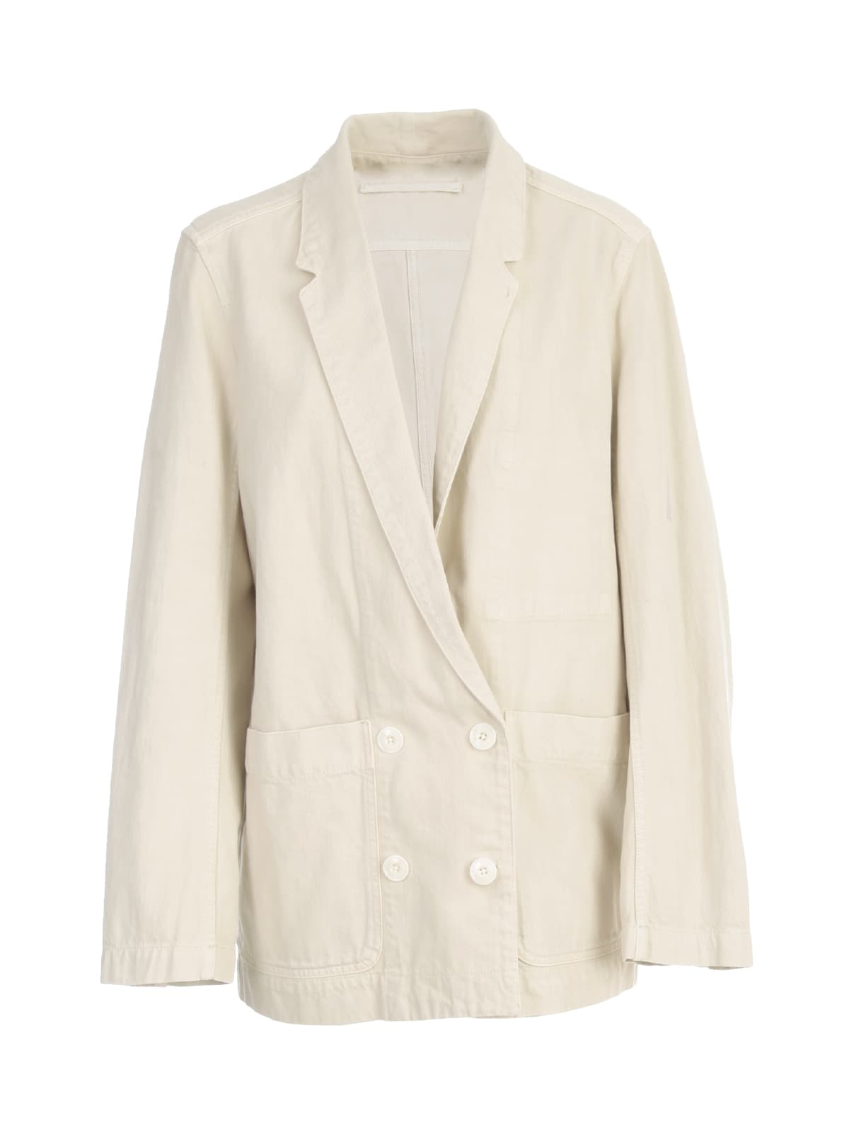 Lemaire Double Breasted Jacket In Lt Pelican Grey