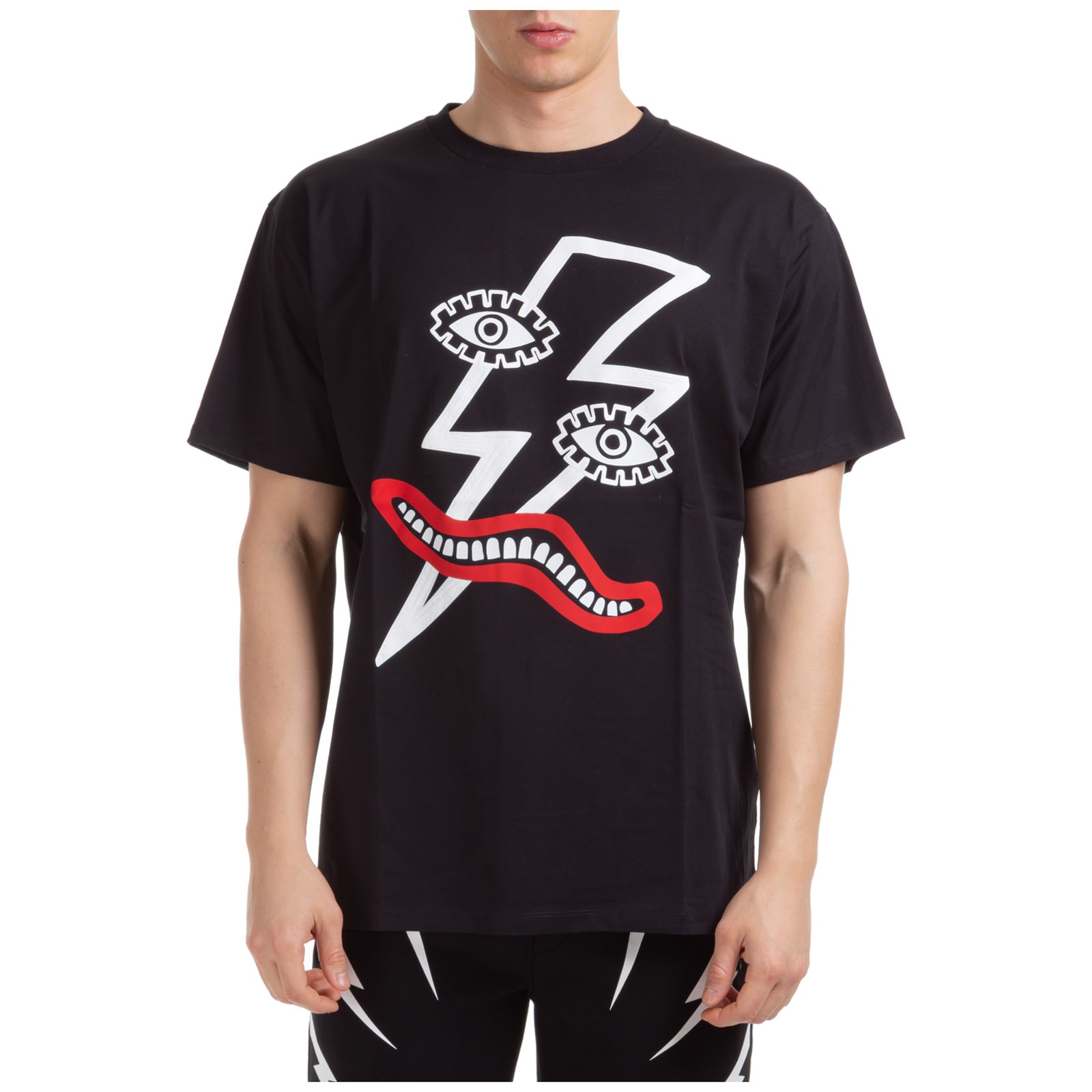 Neil Barrett Surrealist Lightning Bolt T-shirt