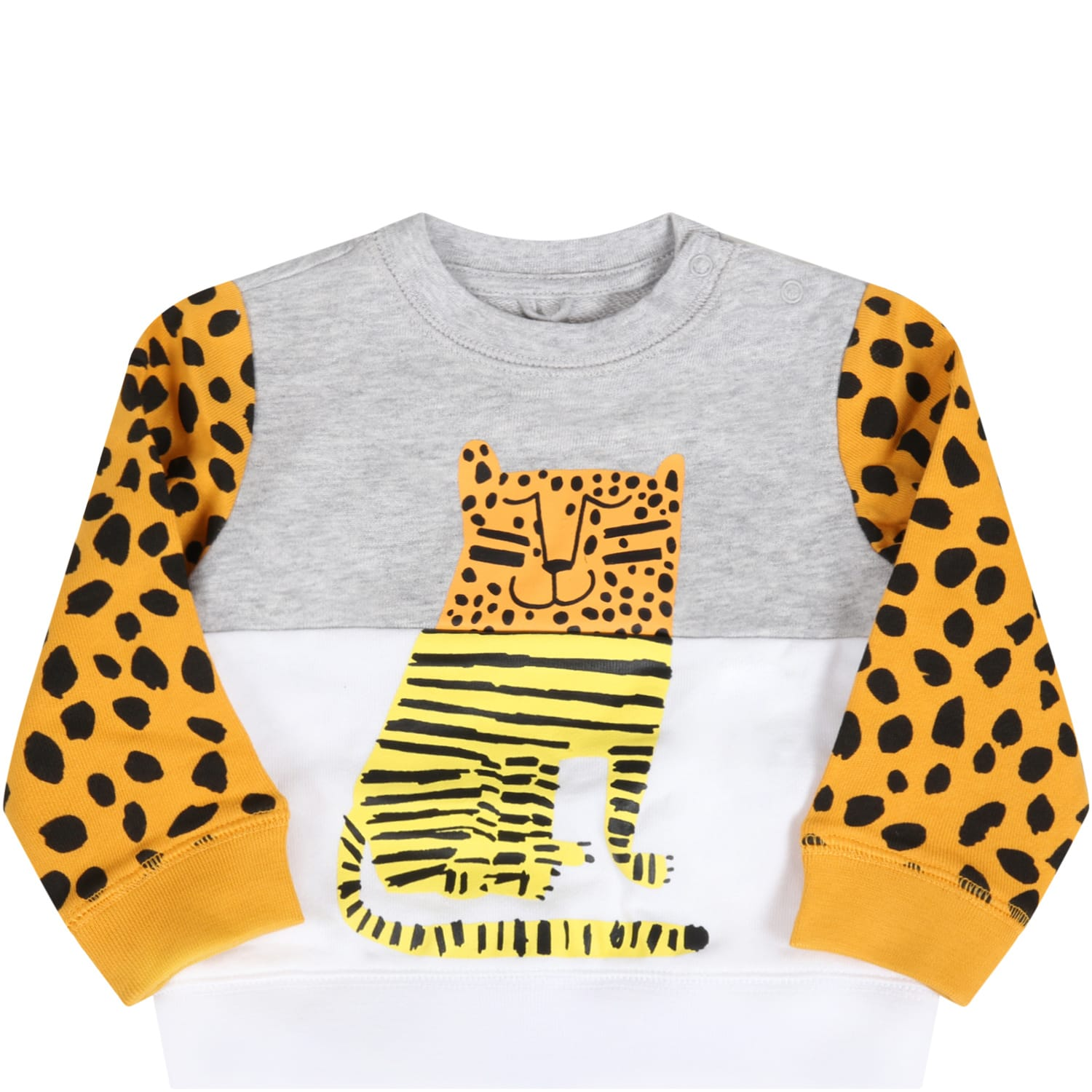 Stella Mccartney Cottons MULTICOLOR SWEATSHIRT FOR BABYBOY WITH TIGER