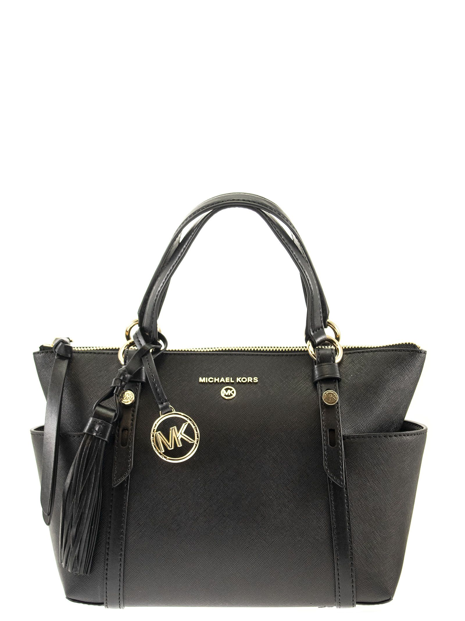 Michael Kors NOMAD SMALL SAFFIANO LEATHER TOP-ZIP TOTE BAG
