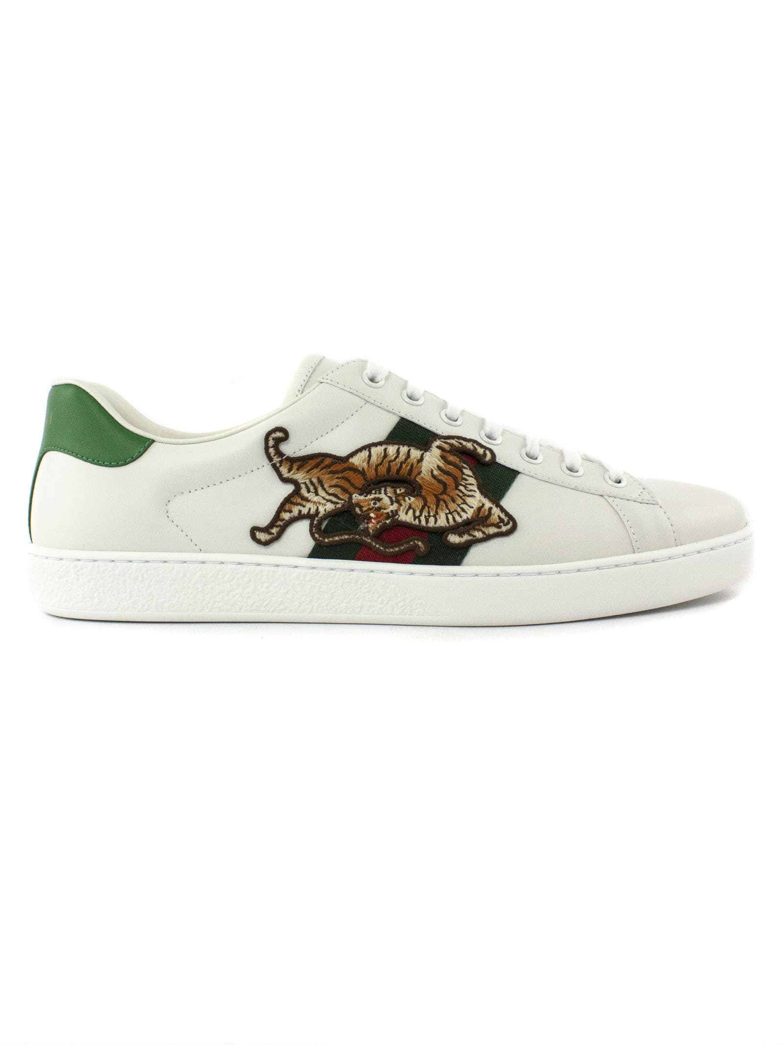 Gucci Low tops WHITE LEATHER ACE SNEAKERS