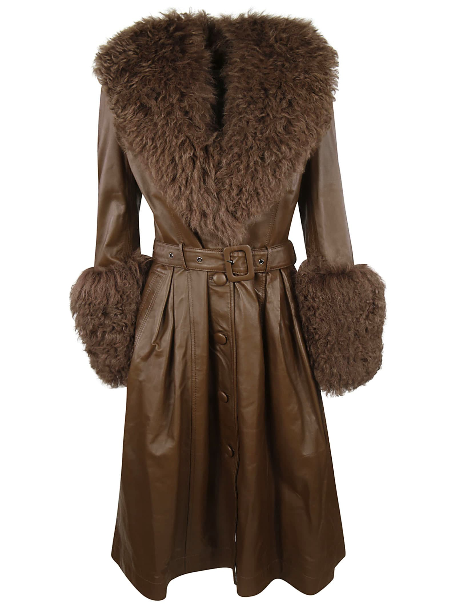 Saks Potts Foxy Shearling Coat