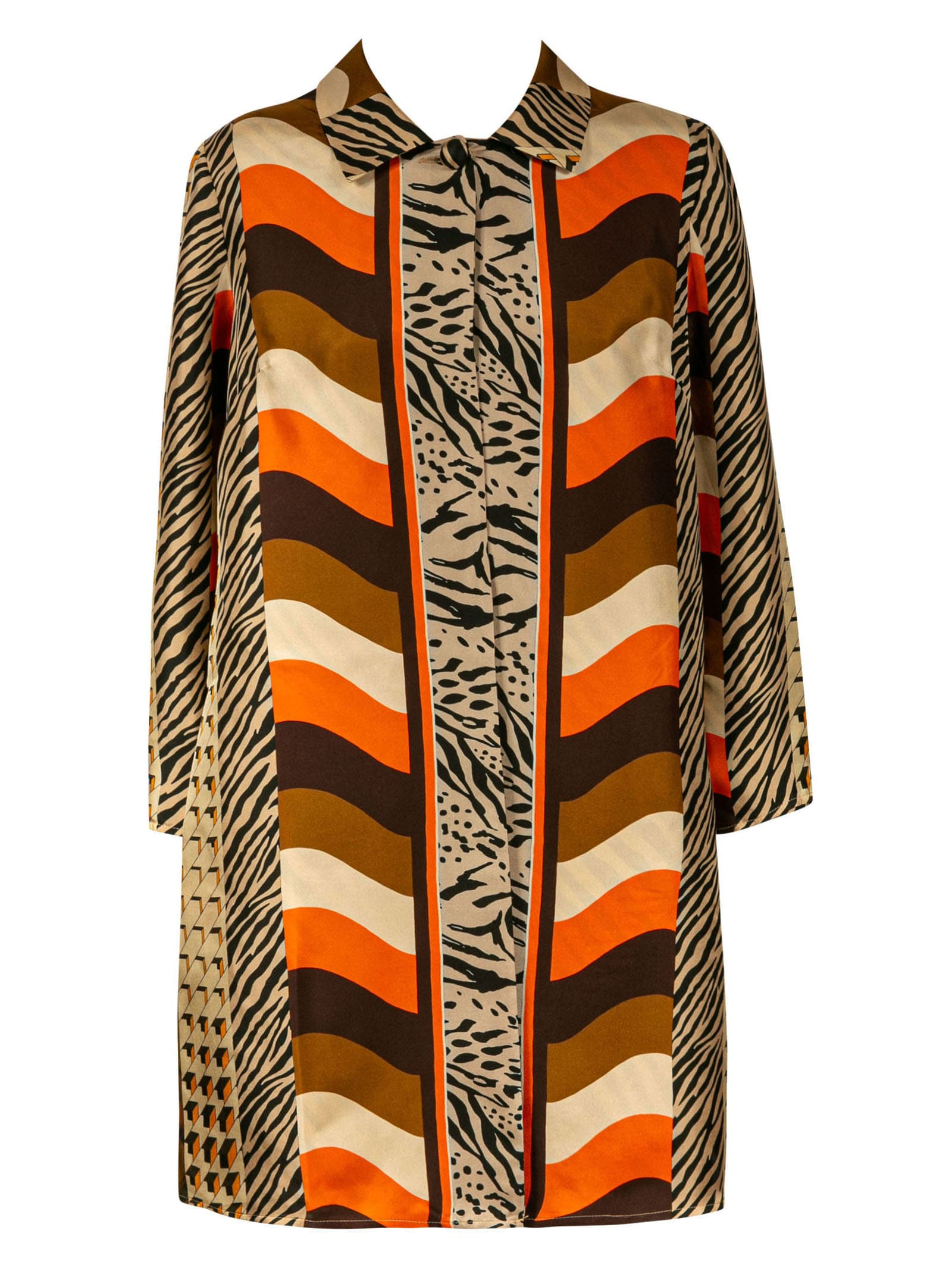 Buy Pierre-Louis Mascia Animal Print Mid-length Dress online, shop Pierre-Louis Mascia with free shipping