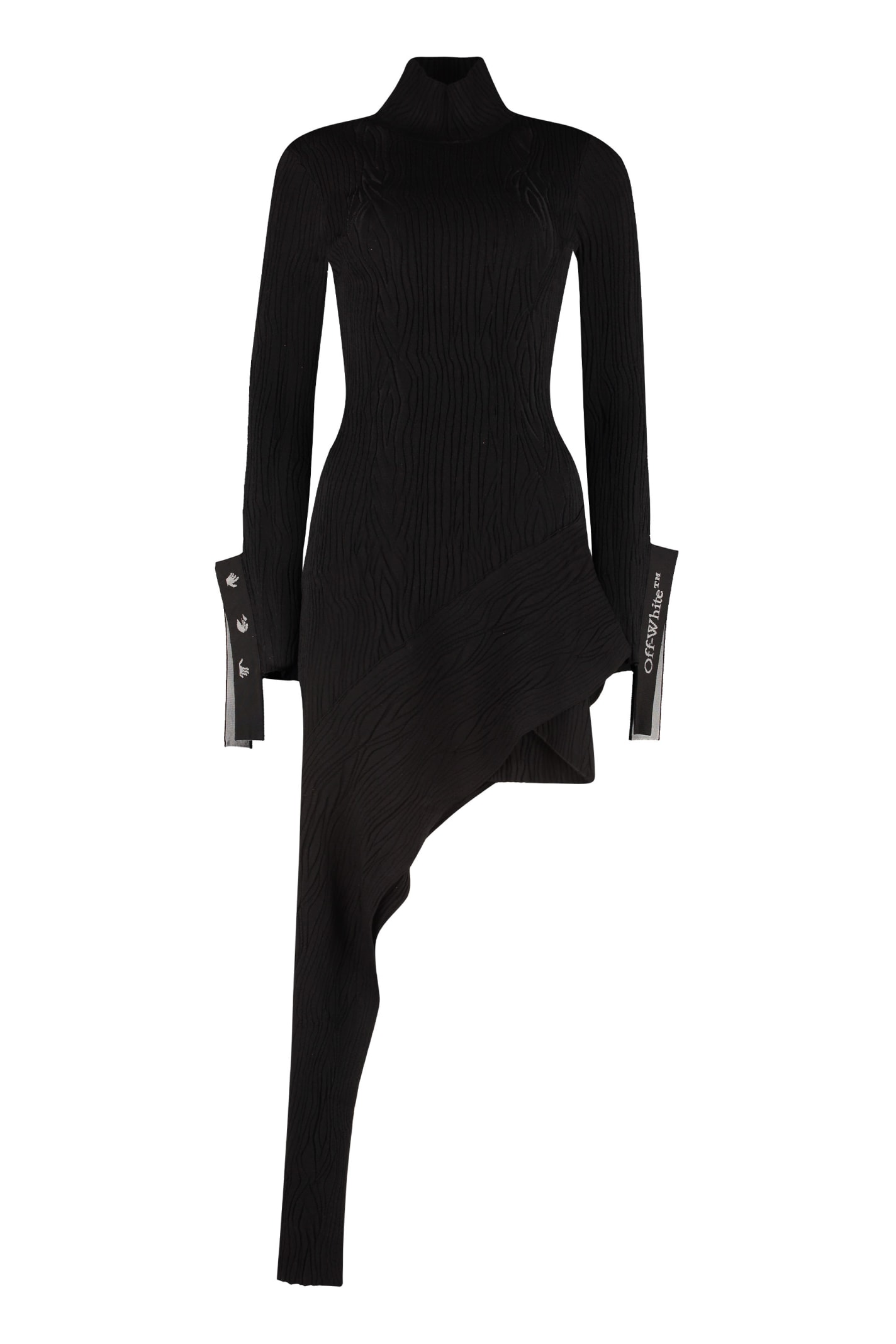 Buy Off-White Asymmetric Knit Dress online, shop Off-White with free shipping