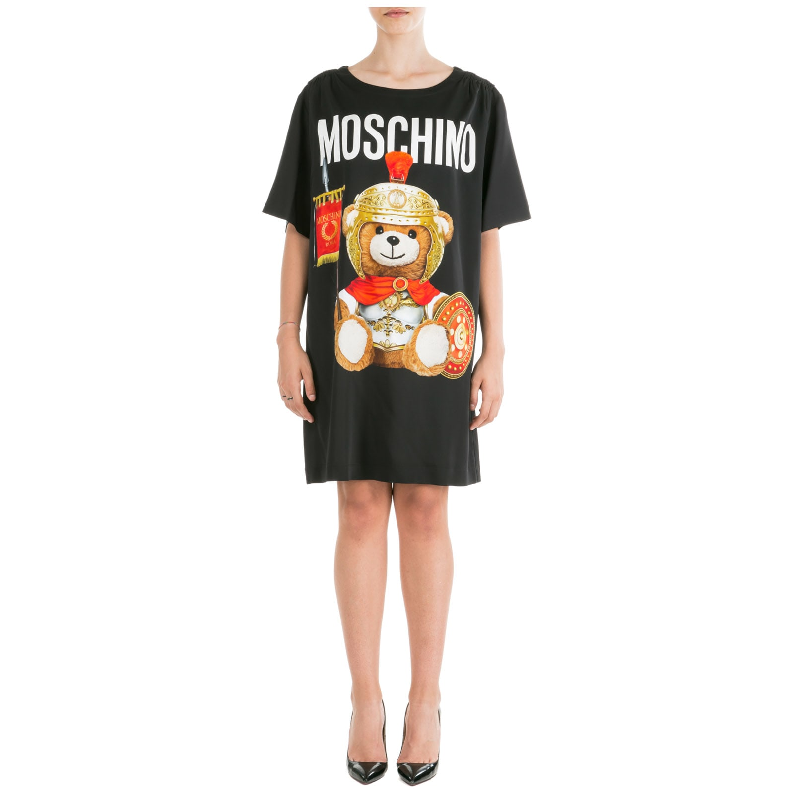 Moschino Short Mini Dress Short Sleeve Roman Teddy Bear