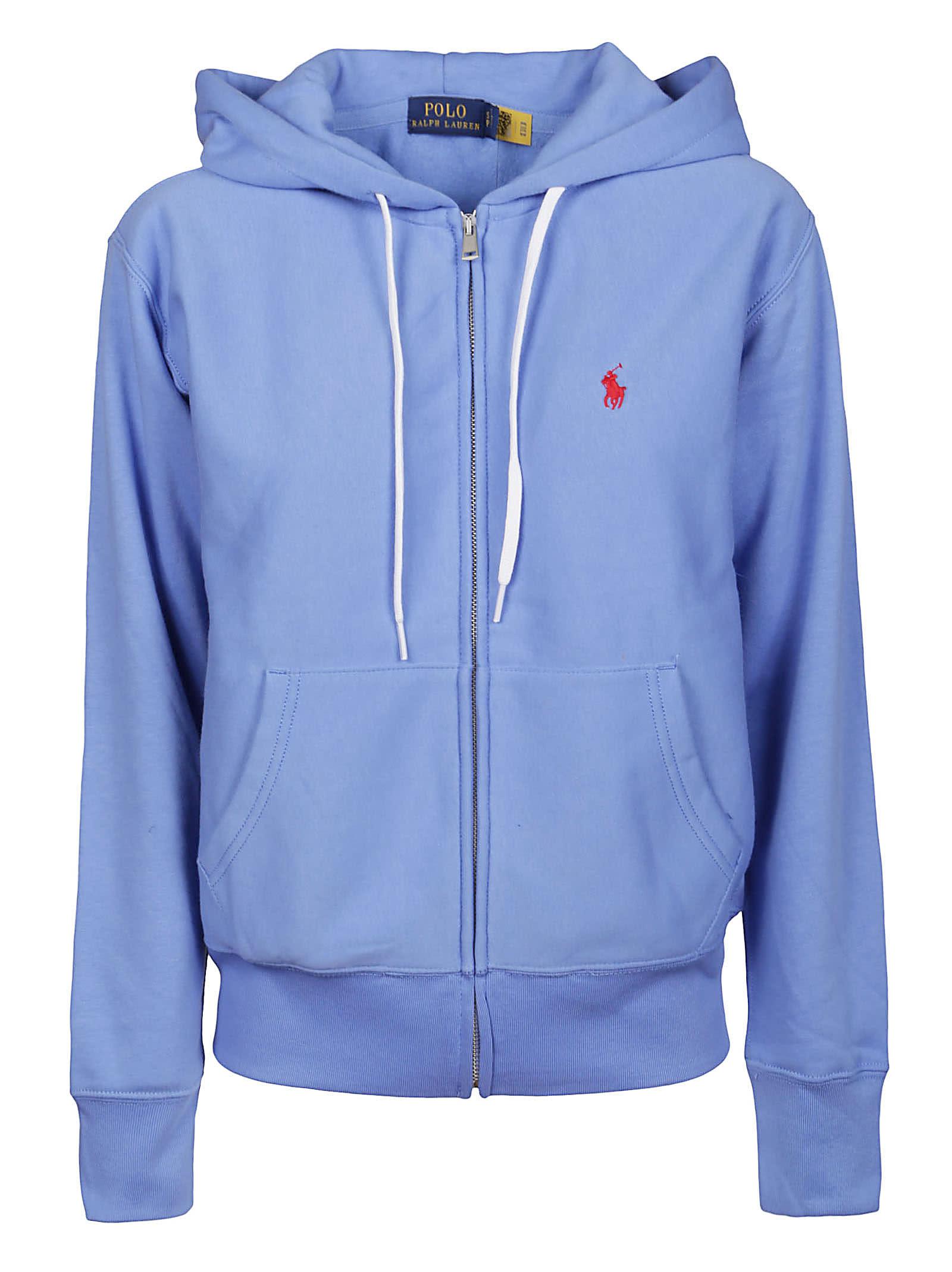 Polo Ralph Lauren Clothing LIGHT BLUE COTTON SWEATSHIRT
