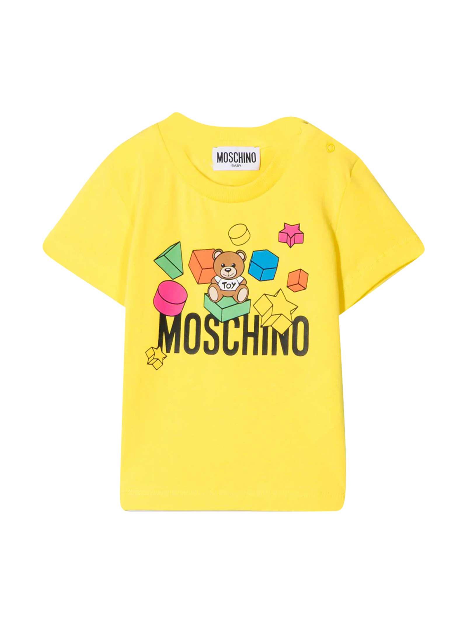 Moschino T-shirts YELLOW T-SHIRT
