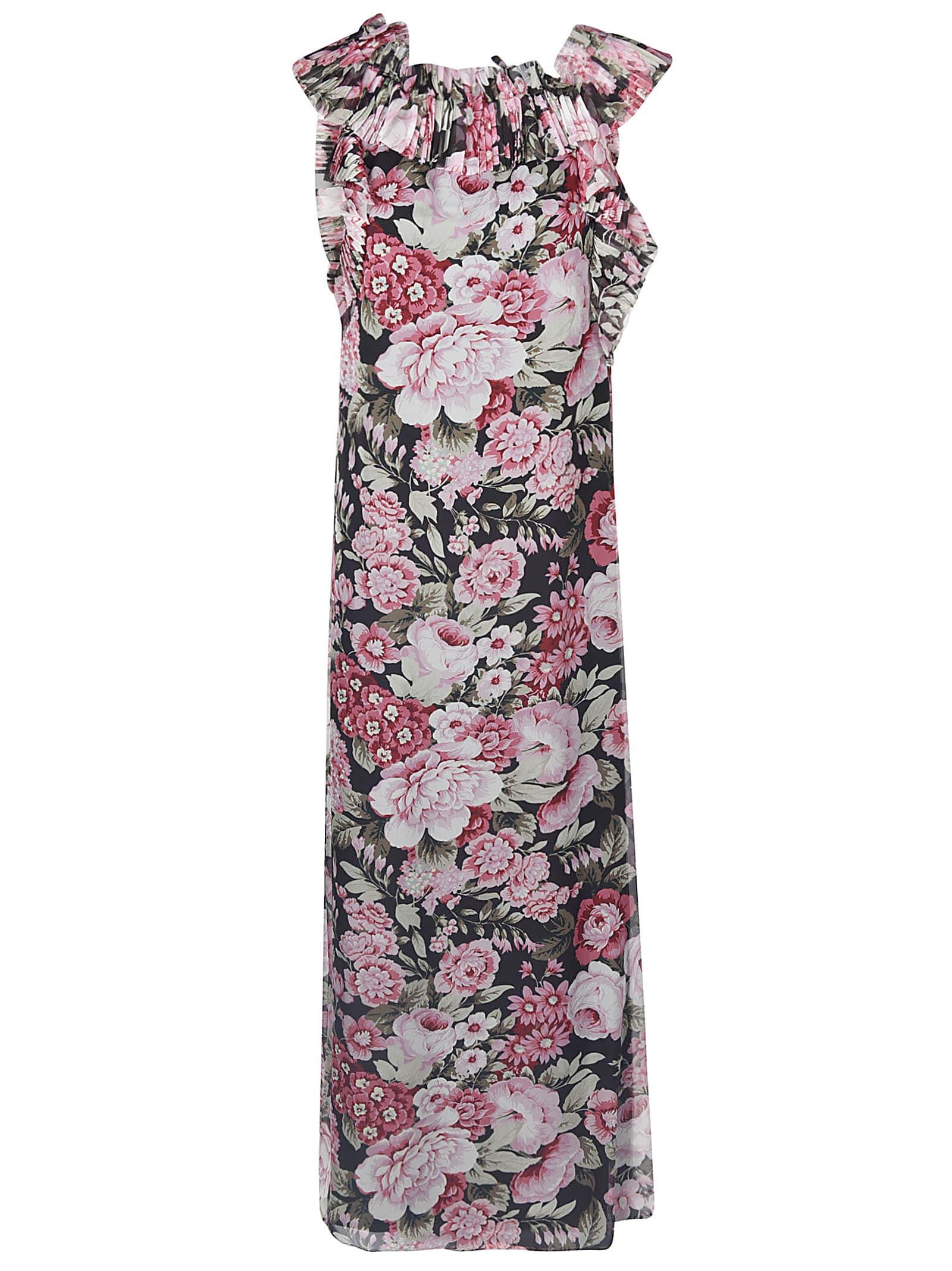 Buy Parosh Floral Print Sleeveless Dress online, shop Parosh with free shipping
