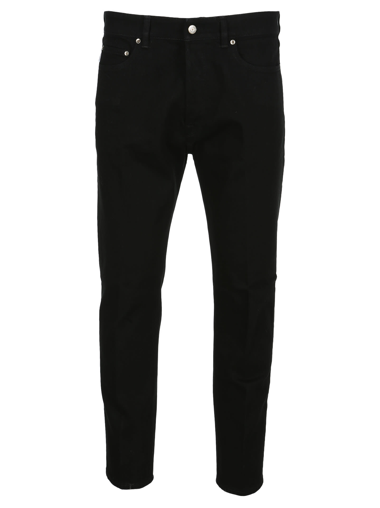 Black Slim Fit Jeans By Golden Goose Featuring: - Black Wash - Five-pocket Model - Slim Fit - Medium Waist - Patch With Logo On The BackComposition: 98% COTTON, 2% POLYURETHAN