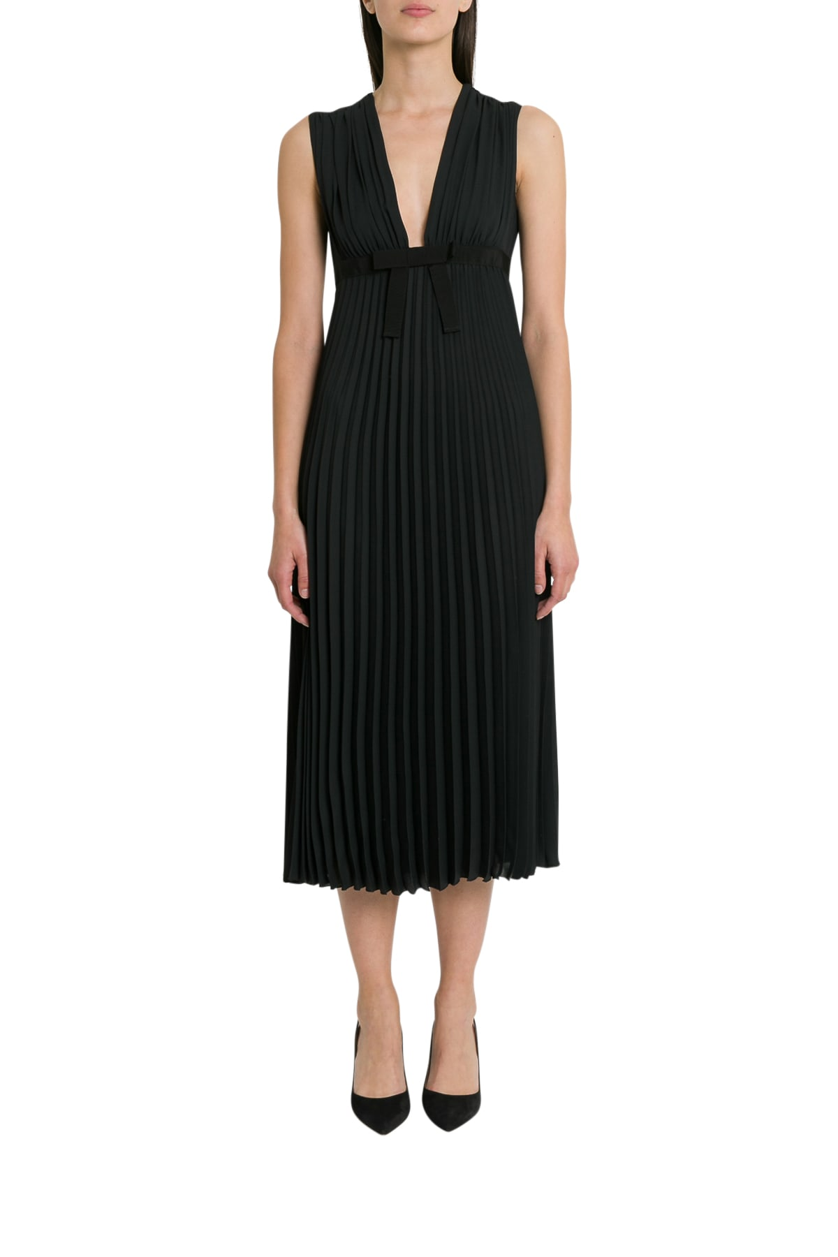 Buy RED Valentino Empire Waist Maxi Dress online, shop RED Valentino with free shipping