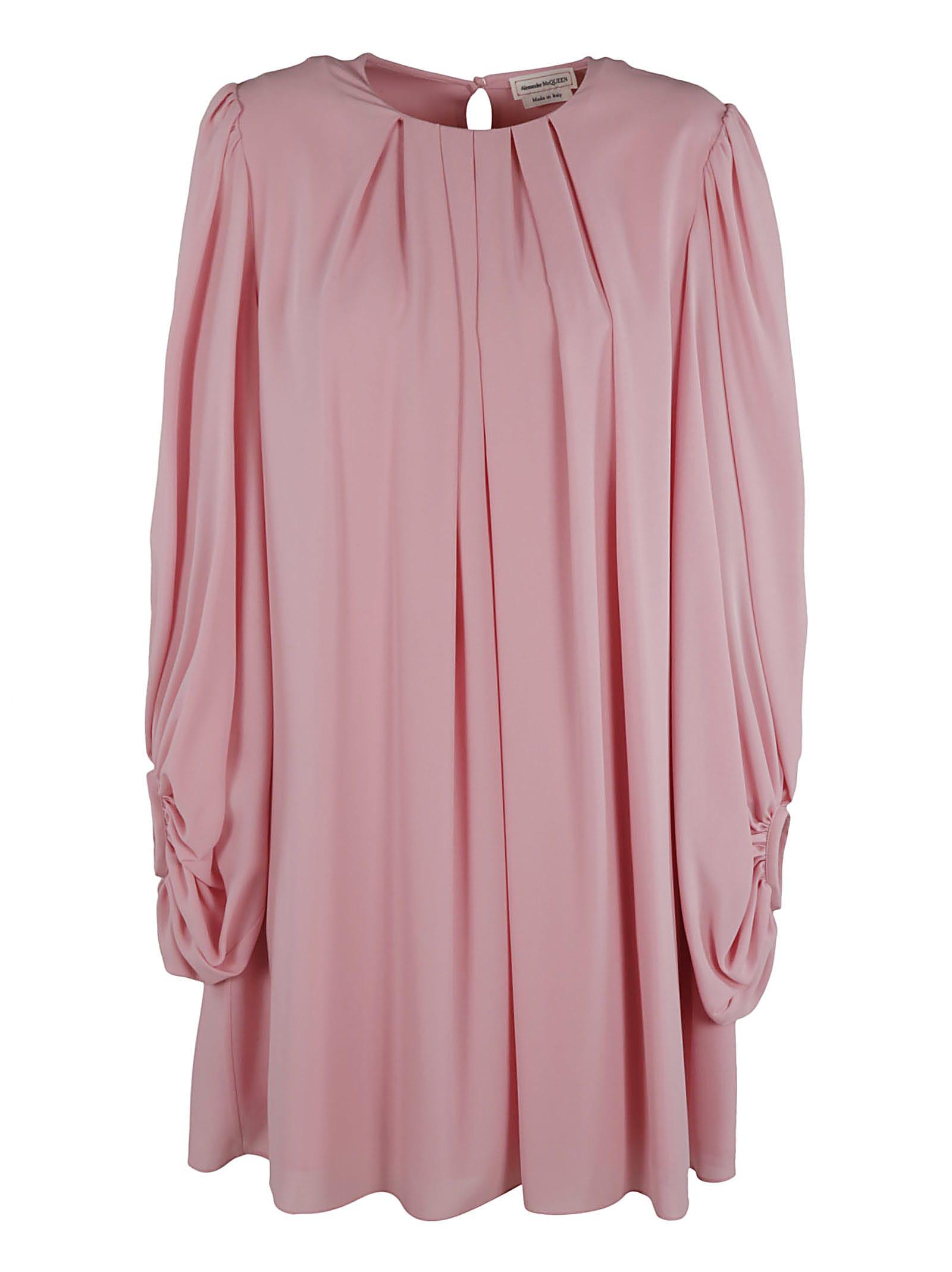 Alexander McQueen Long-sleeved Pleated Dress