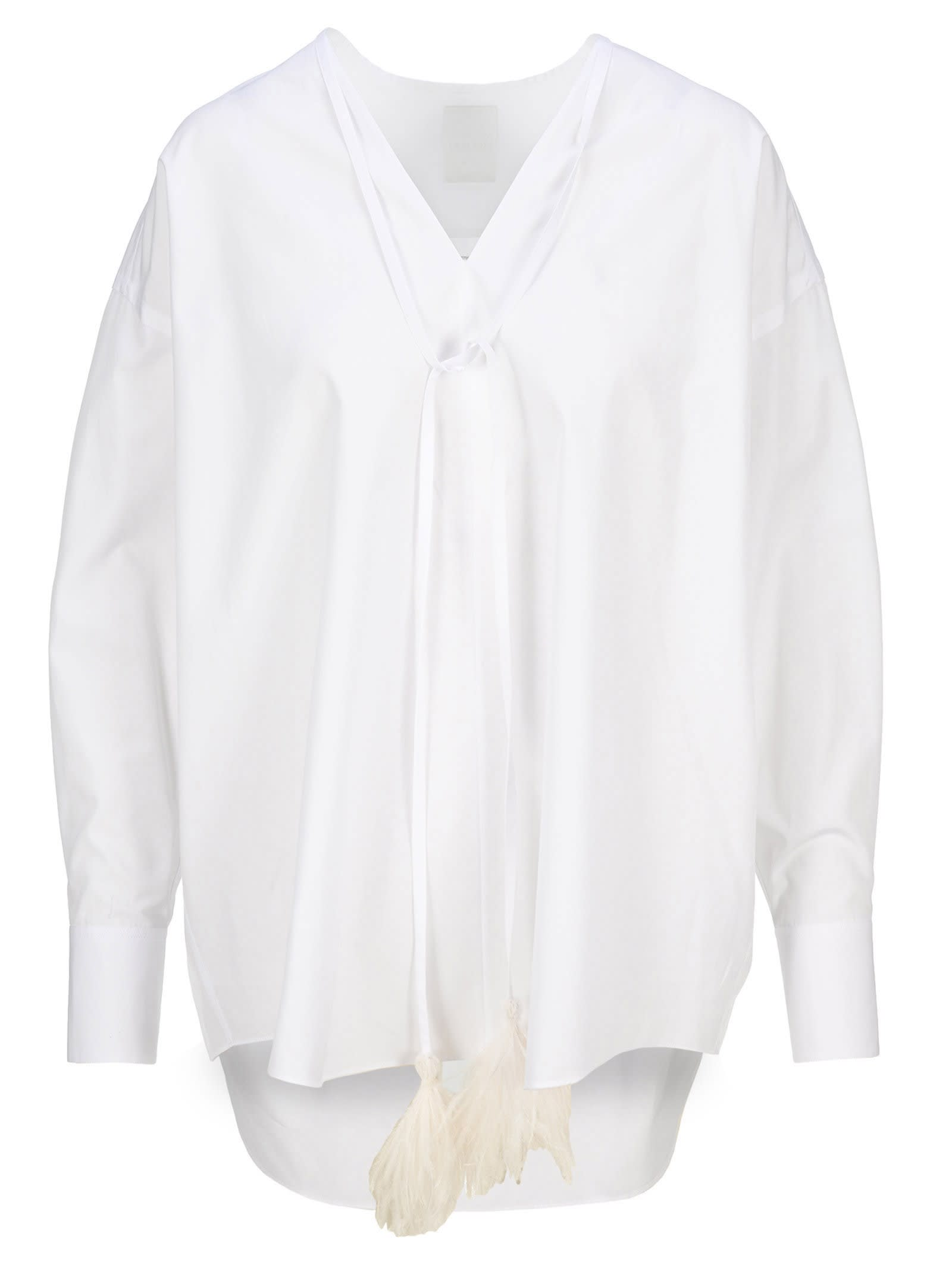Ostrich Feather Embellished Shirt