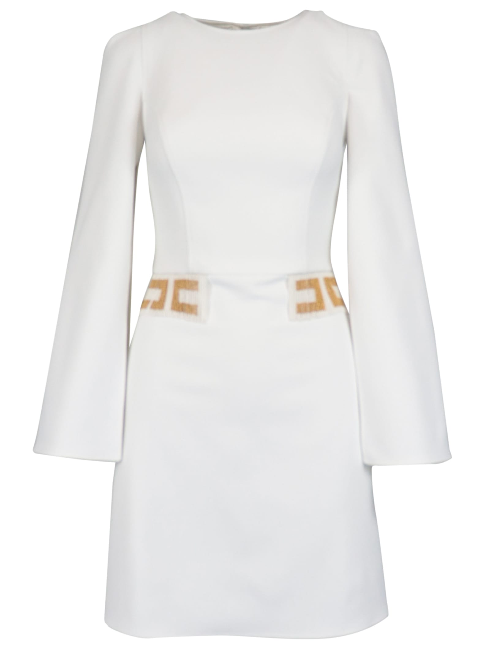 Buy Elisabetta Franchi Celyn B. Crepe Logo Dress online, shop Elisabetta Franchi Celyn B. with free shipping