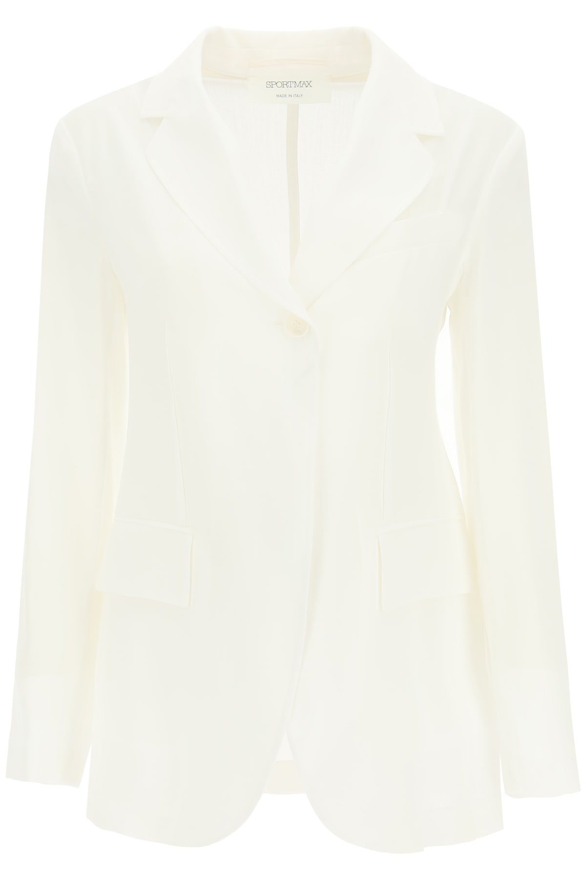 Sportmax Coats SINGLE-BREASTED RAMIE BLAZER
