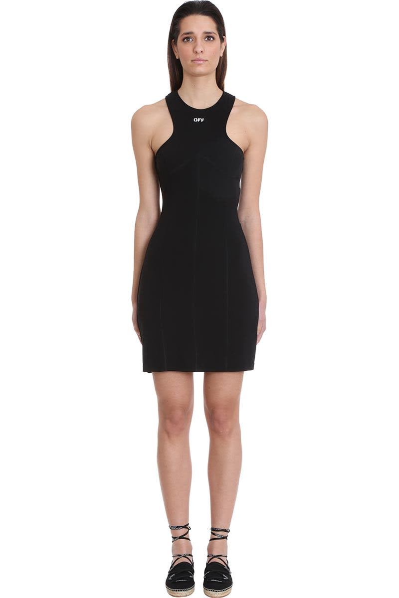 Buy Off-White Rowing Pencil Dress In Black Viscose online, shop Off-White with free shipping