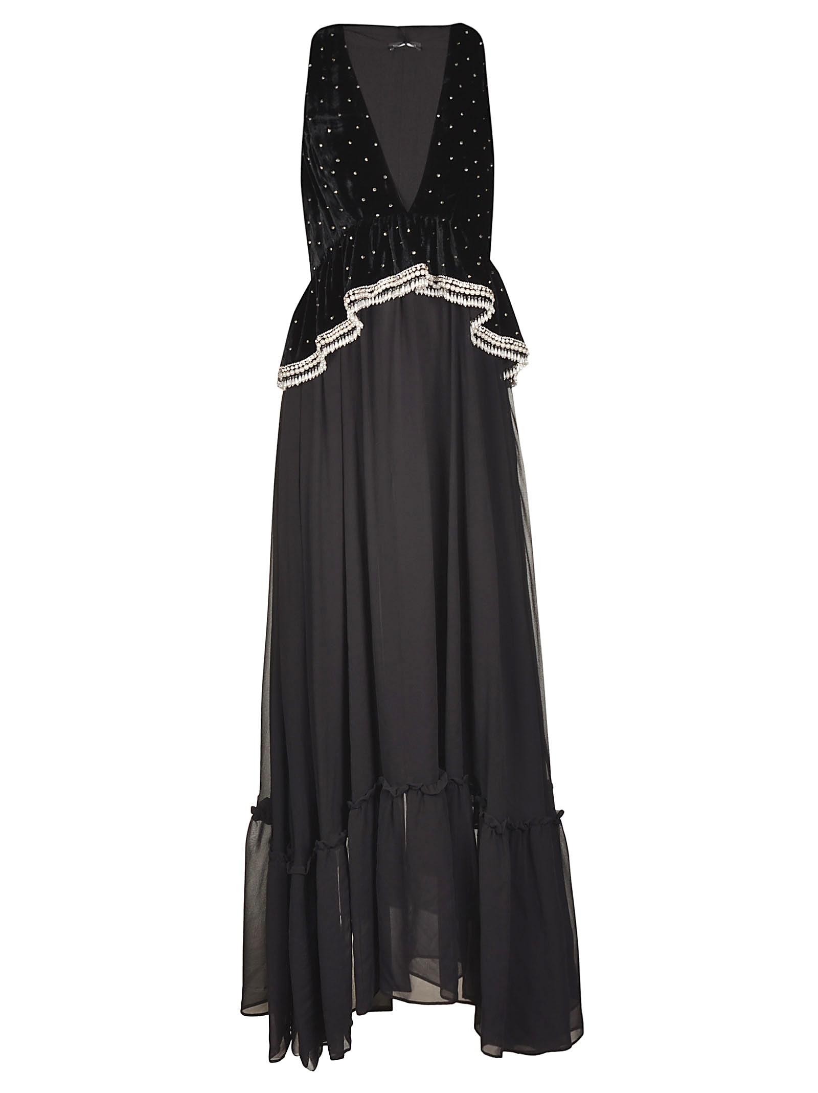 WANDERING Embellished Sleeveless Long Dress