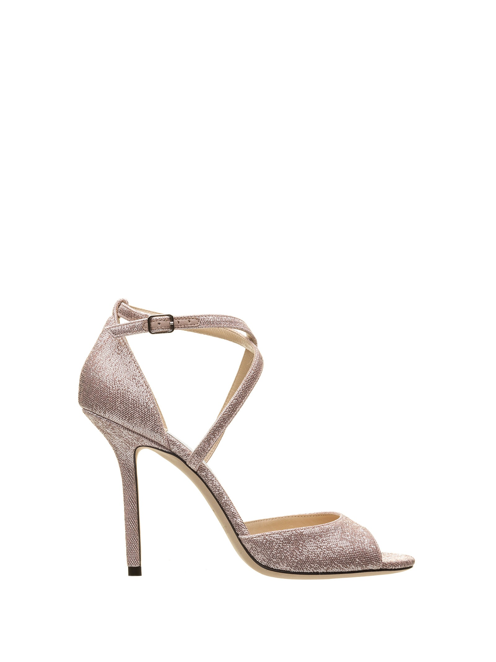 Jimmy Choo Jimmy Choo Emsy Metallic Fabric Sandals