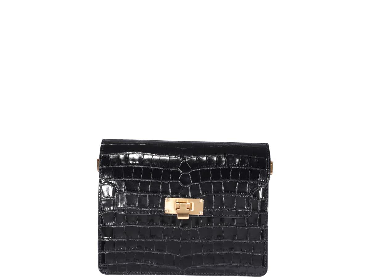 Marge Sherwood Vintage Brick Bag In Black