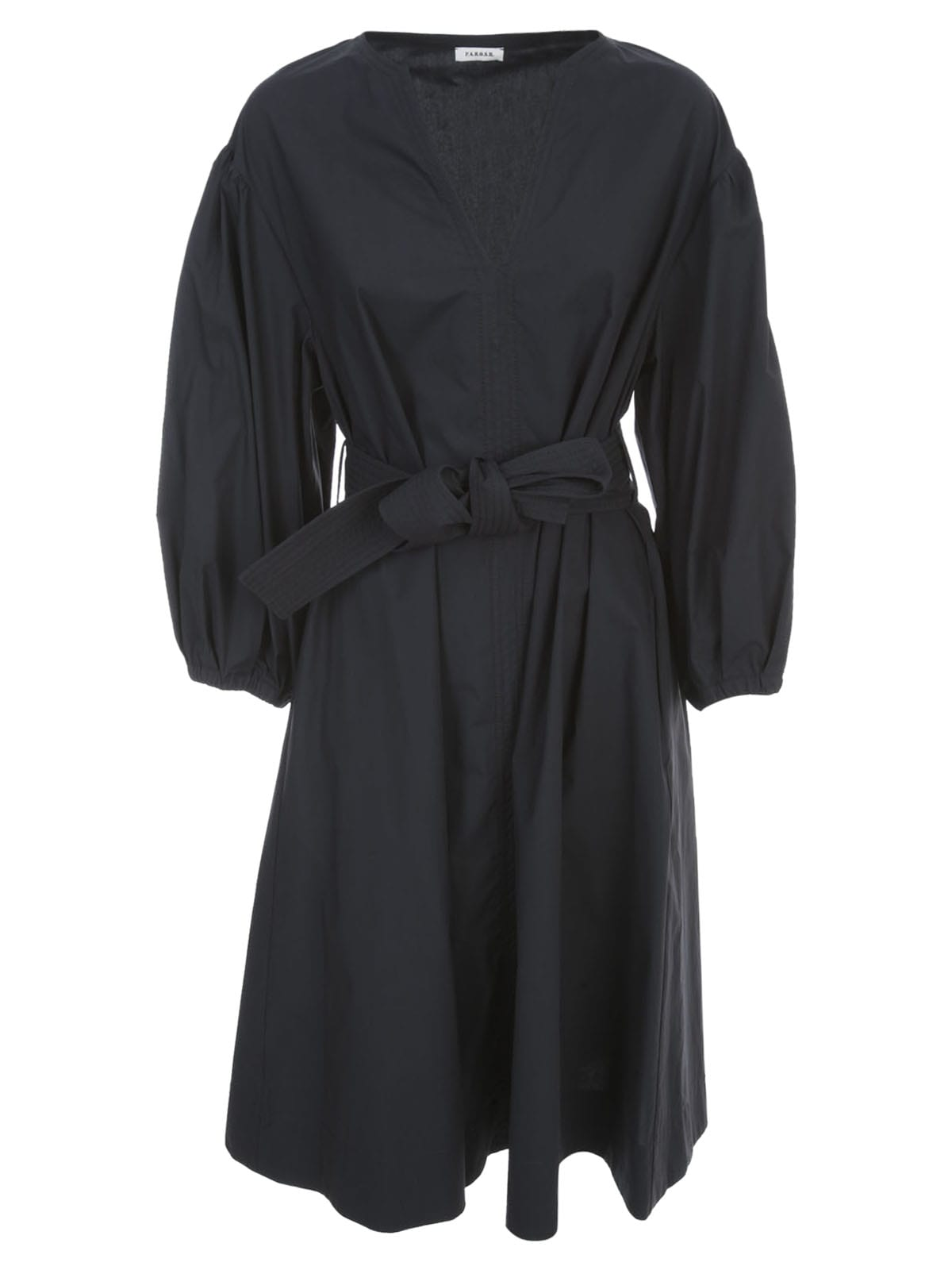 Buy Parosh Cotton Dress 3/4s W/belt online, shop Parosh with free shipping