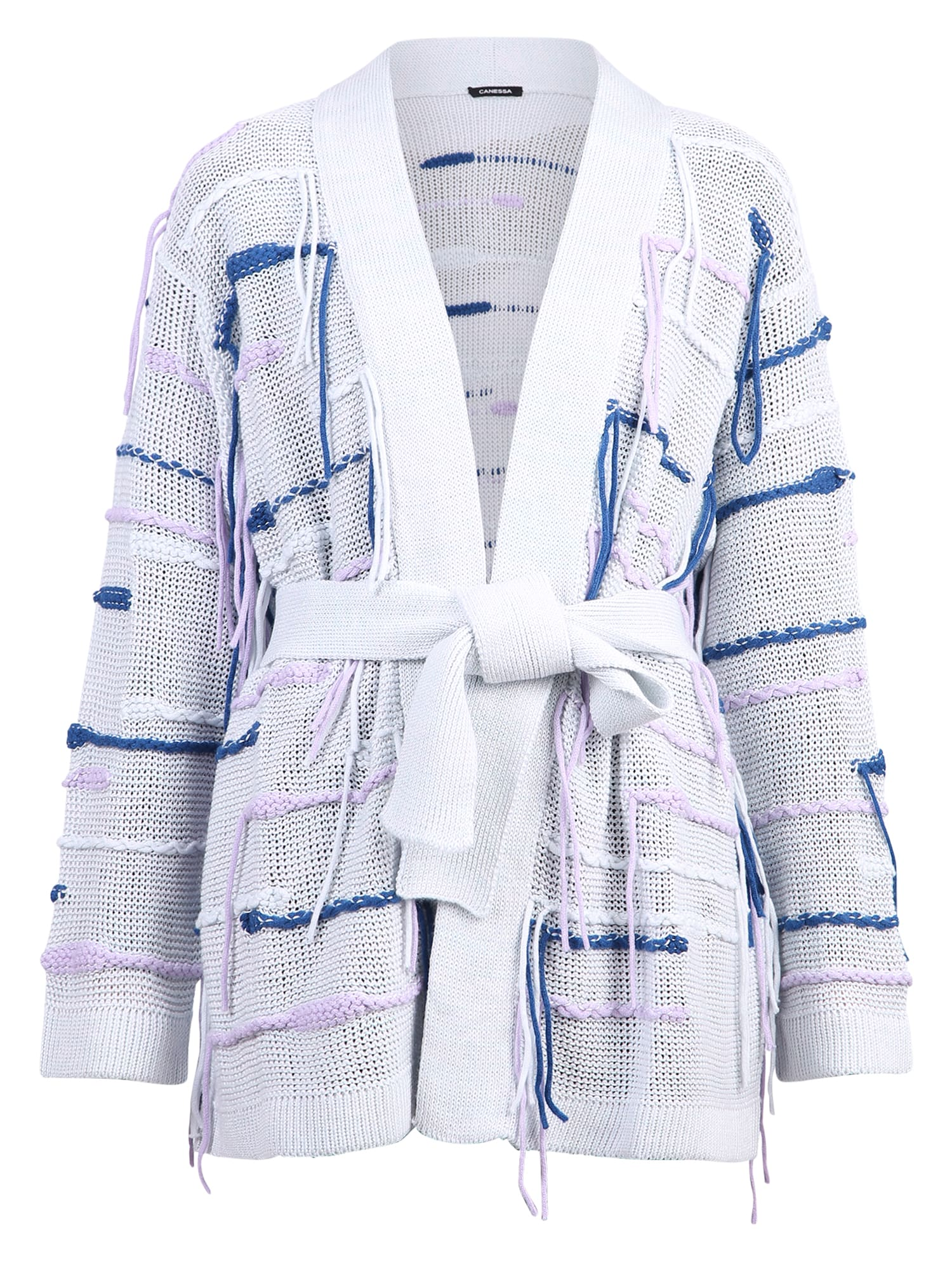 Canessa Linens BELTED CARDIGAN