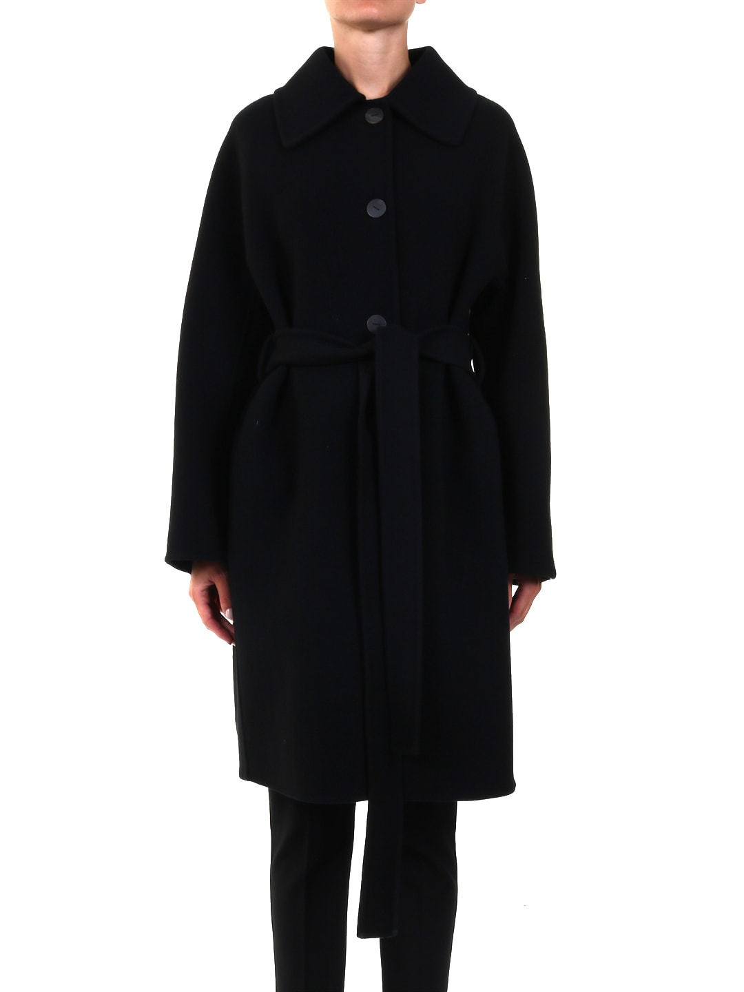 LOEWE BELTED COAT IN WOOL AND CASHMERE