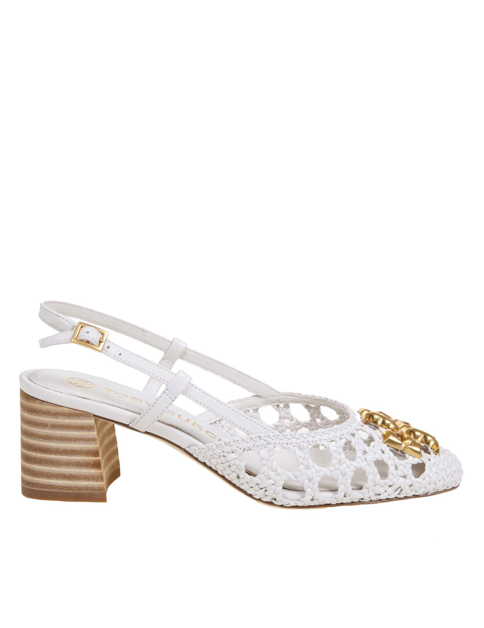 Buy Tory Burch Eleanor Decollete In Woven Leather online, shop Tory Burch shoes with free shipping