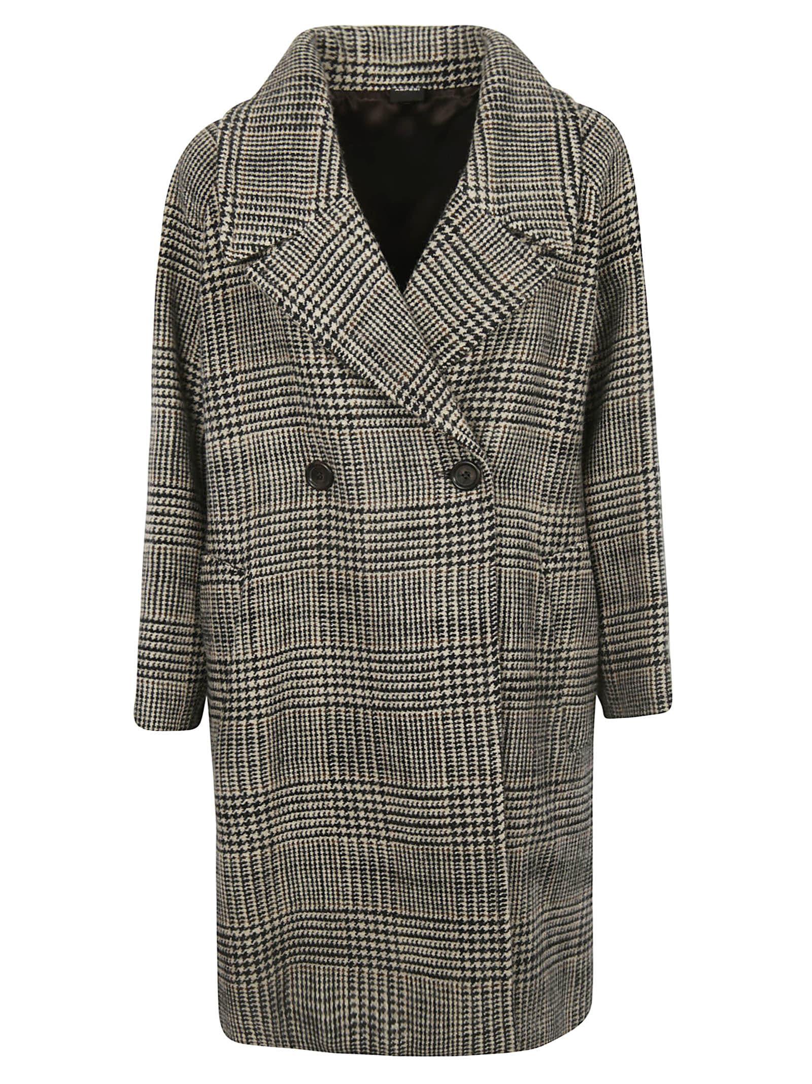 Aspesi Houndstooth Coat