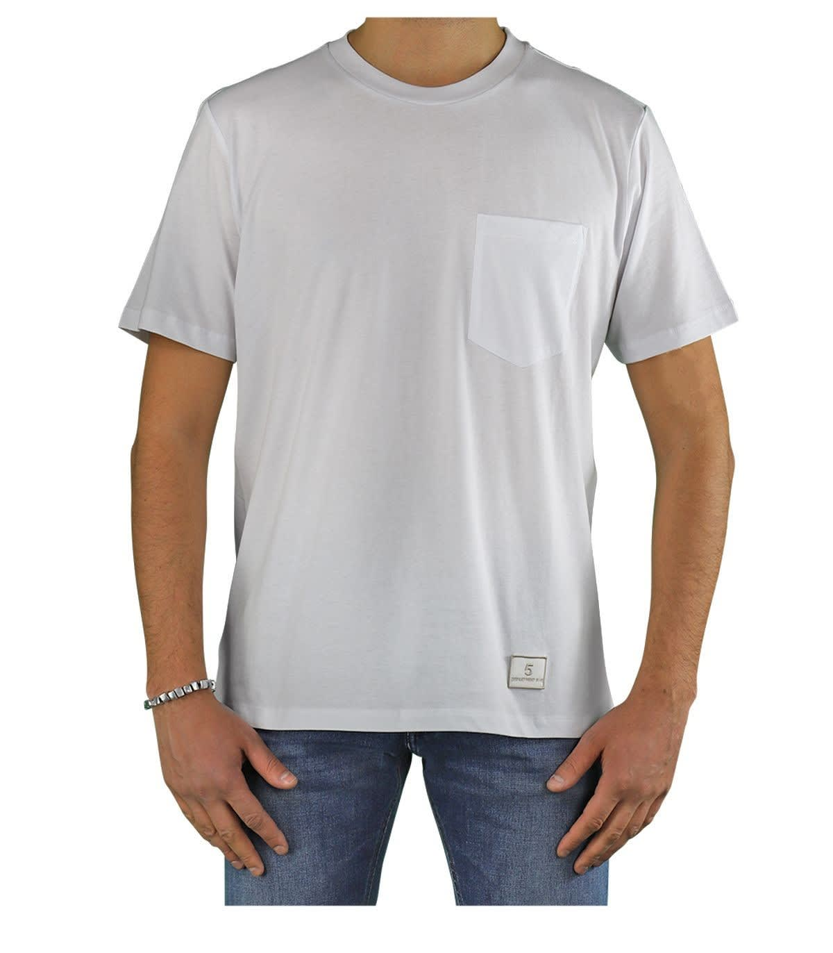 Department 5 Cottons MARTIN WHITE T-SHIRT WITH POCKET