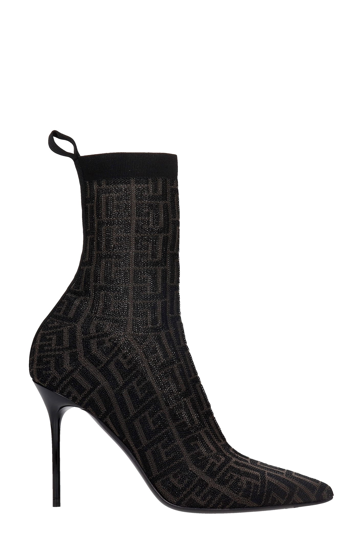 Buy Balmain High Heels Ankle Boots In Black Synthetic Fibers online, shop Balmain shoes with free shipping