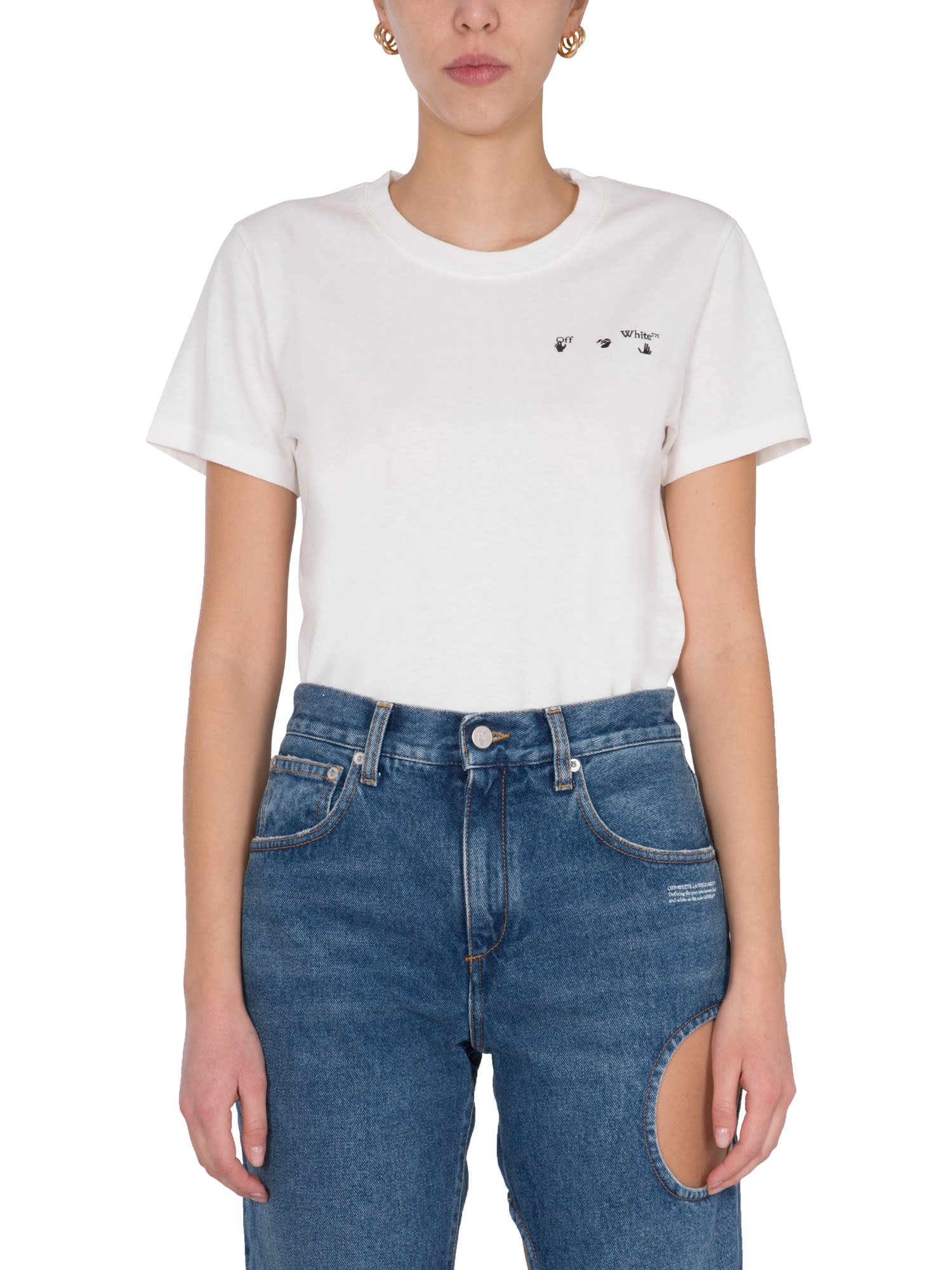 Off-White T-shirts CREW NECK T-SHIRT