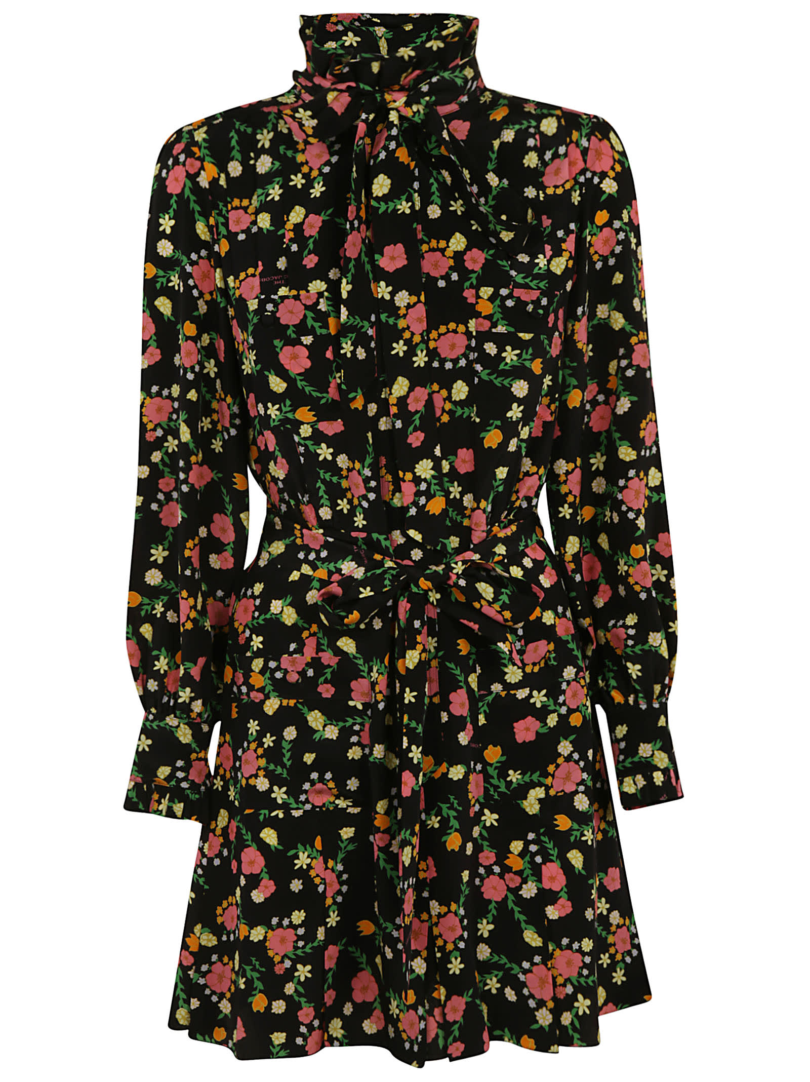 Buy Marc Jacobs Floral Print Bow Detail Dress online, shop Marc Jacobs with free shipping