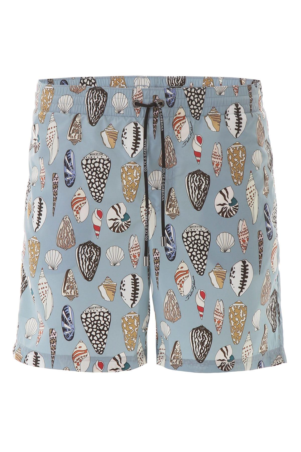Dolce & Gabbana Shell Print Swim Trunks