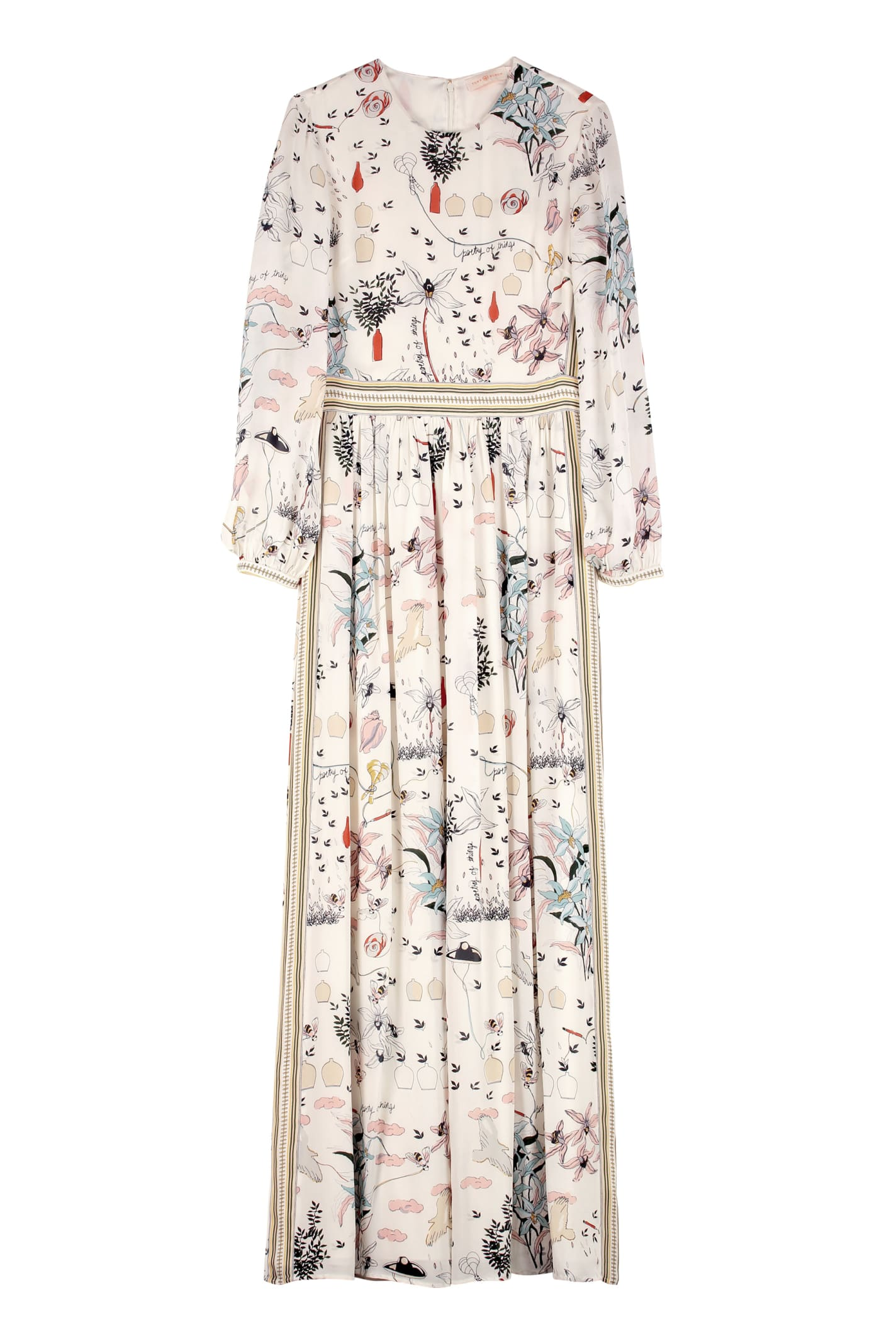 Tory Burch Printed Silk Long Dress