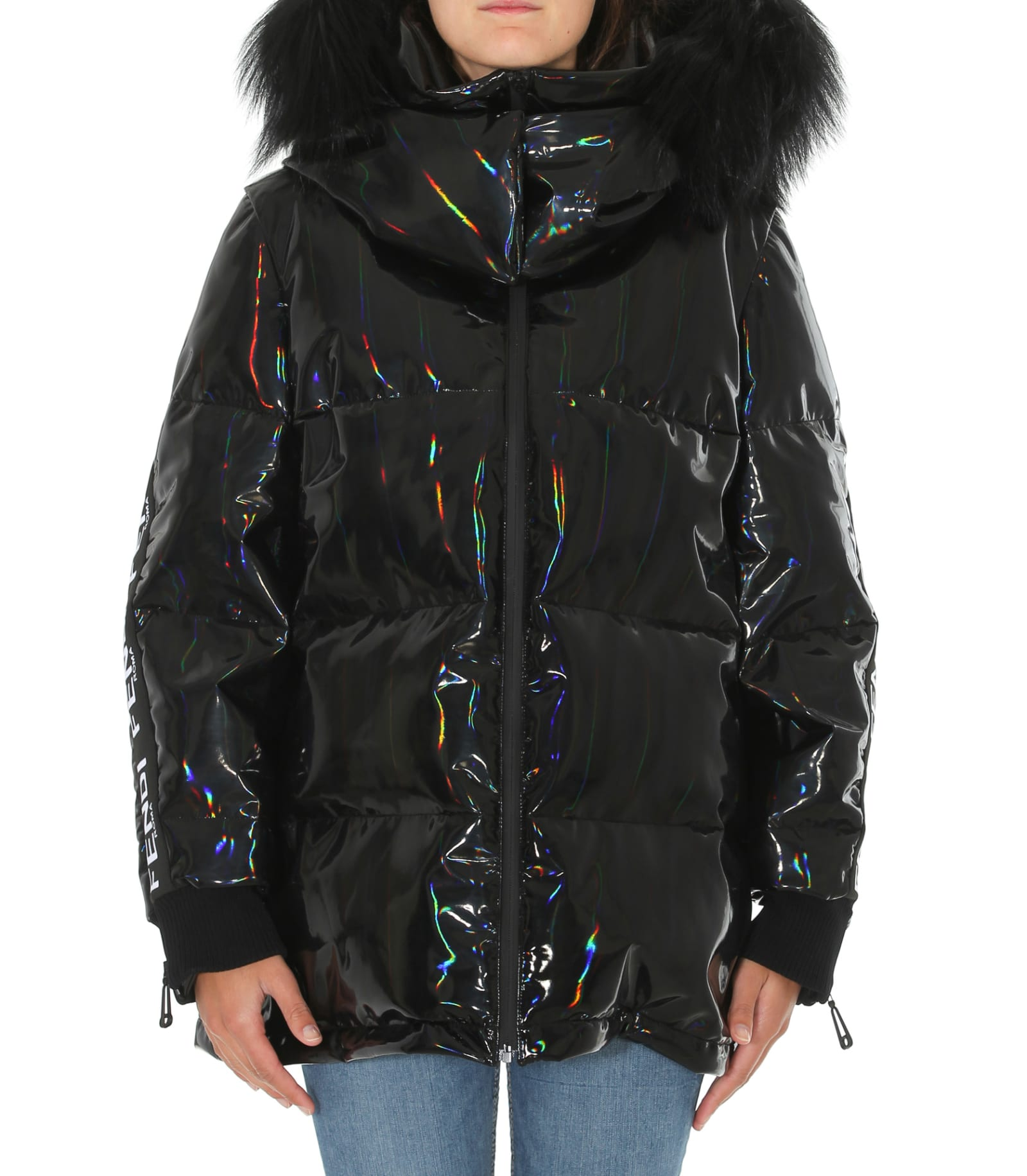 Fendi Fendi Roma Logo Hologram Down Jacket