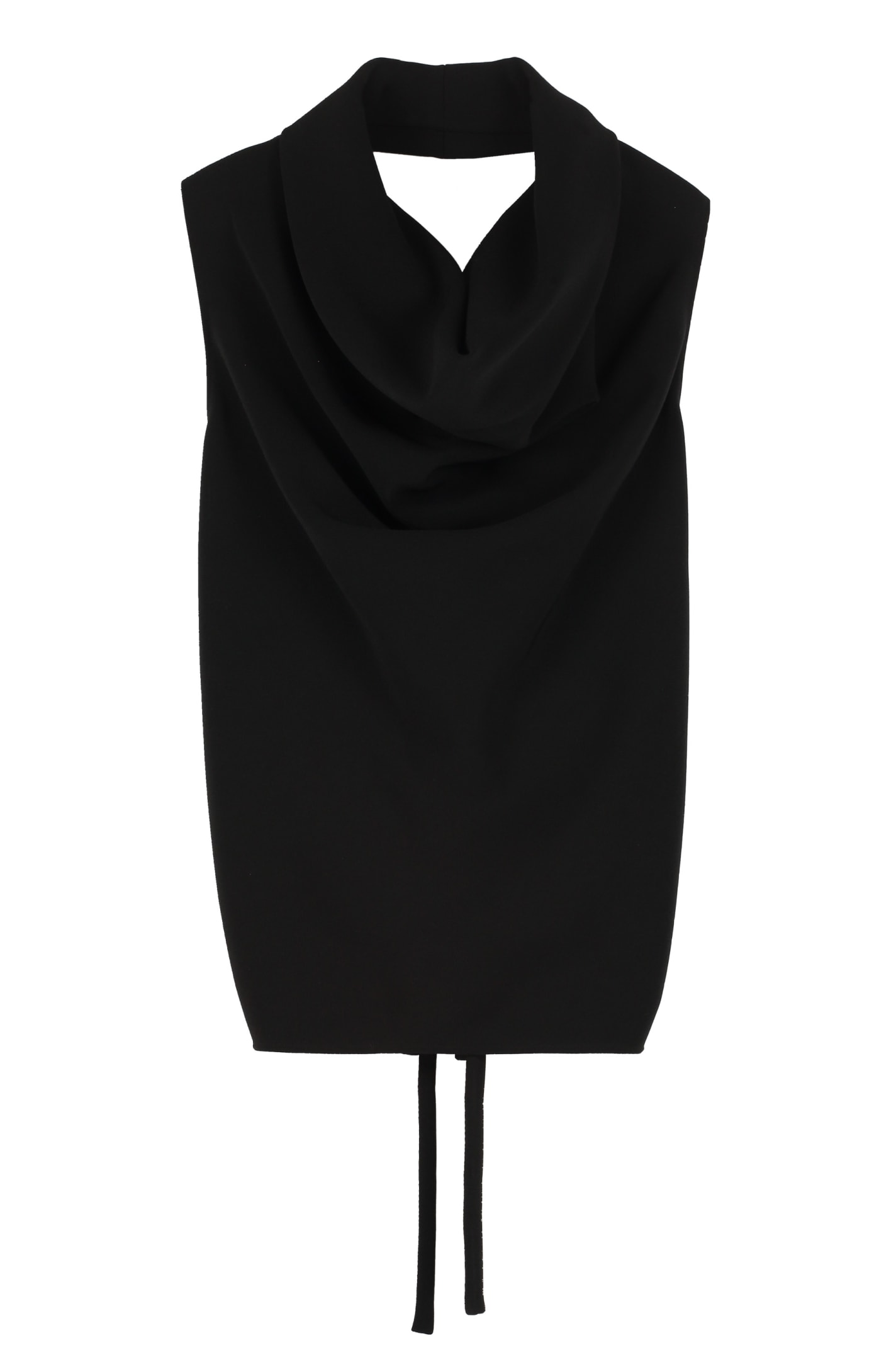 Maison Margiela Draped Neckline Jersey Top