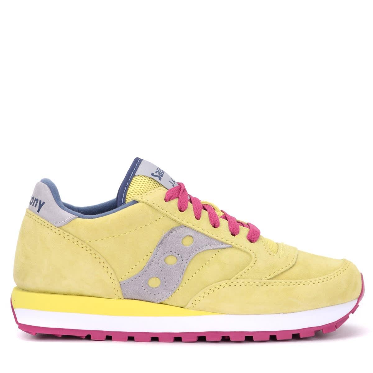 Saucony Sneaker Jazz Model Made Of Yellow Suede