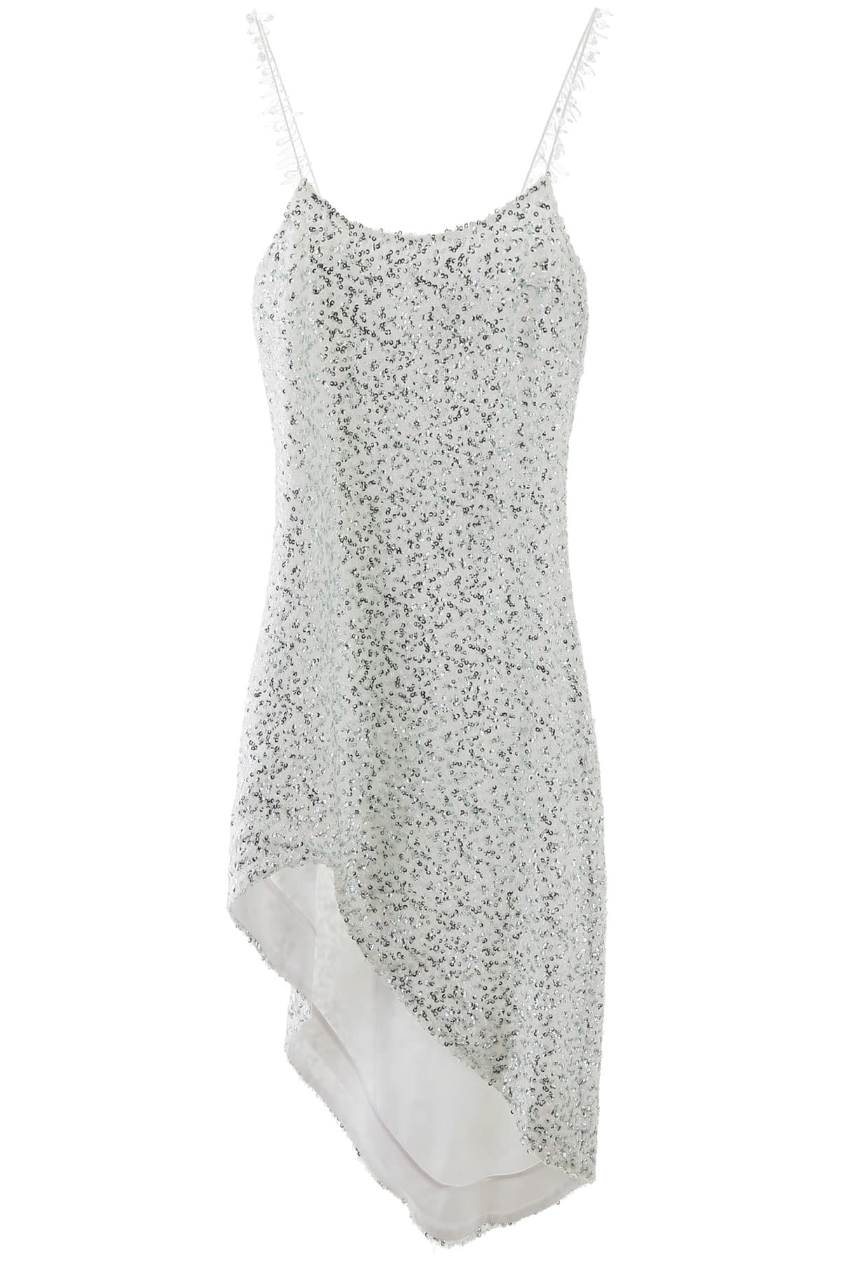 Buy Halpern Asymmetric Sequined Dress online, shop Halpern with free shipping