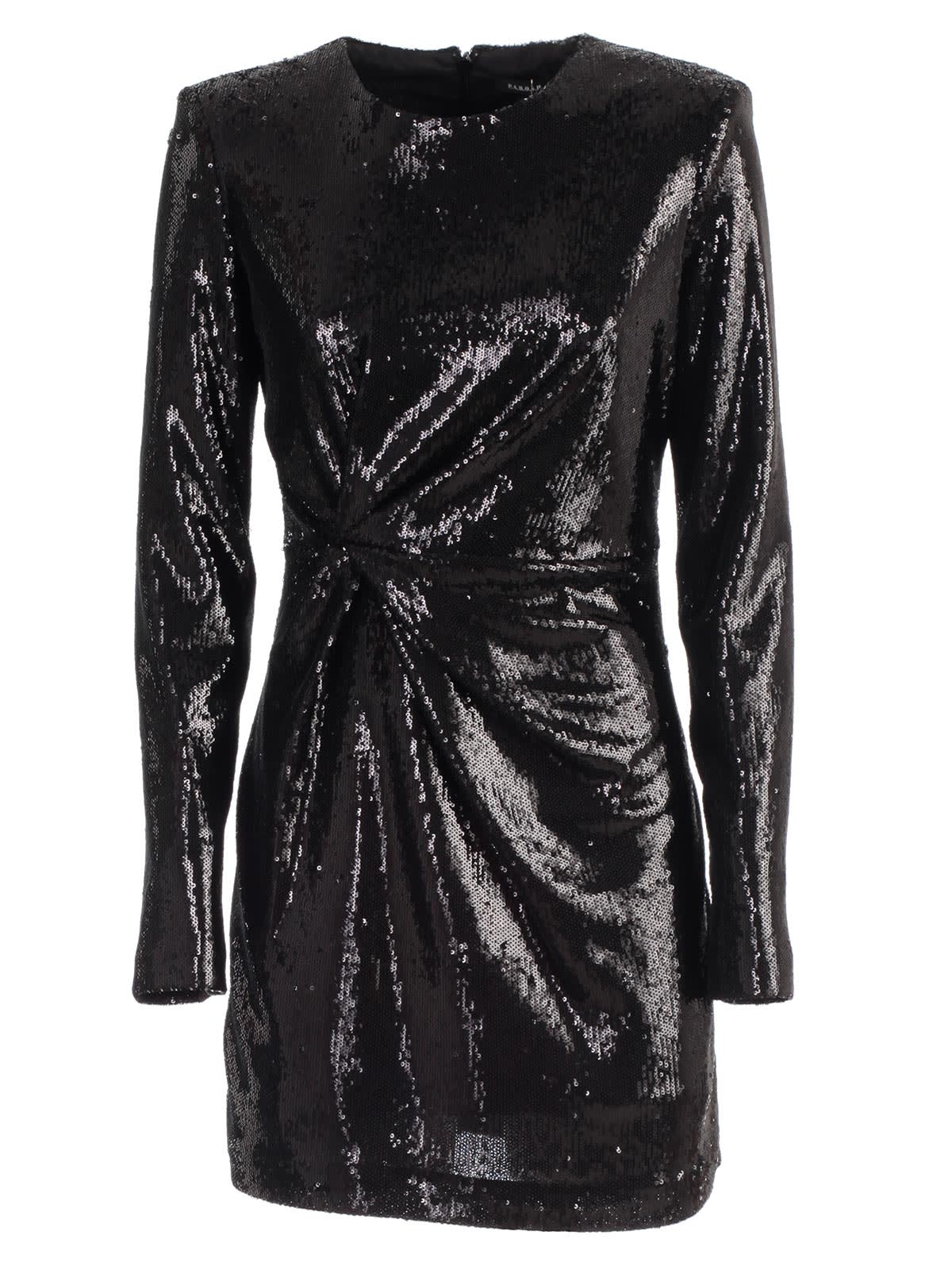 Buy Parosh Dress L/s W/paillettes And Drape online, shop Parosh with free shipping